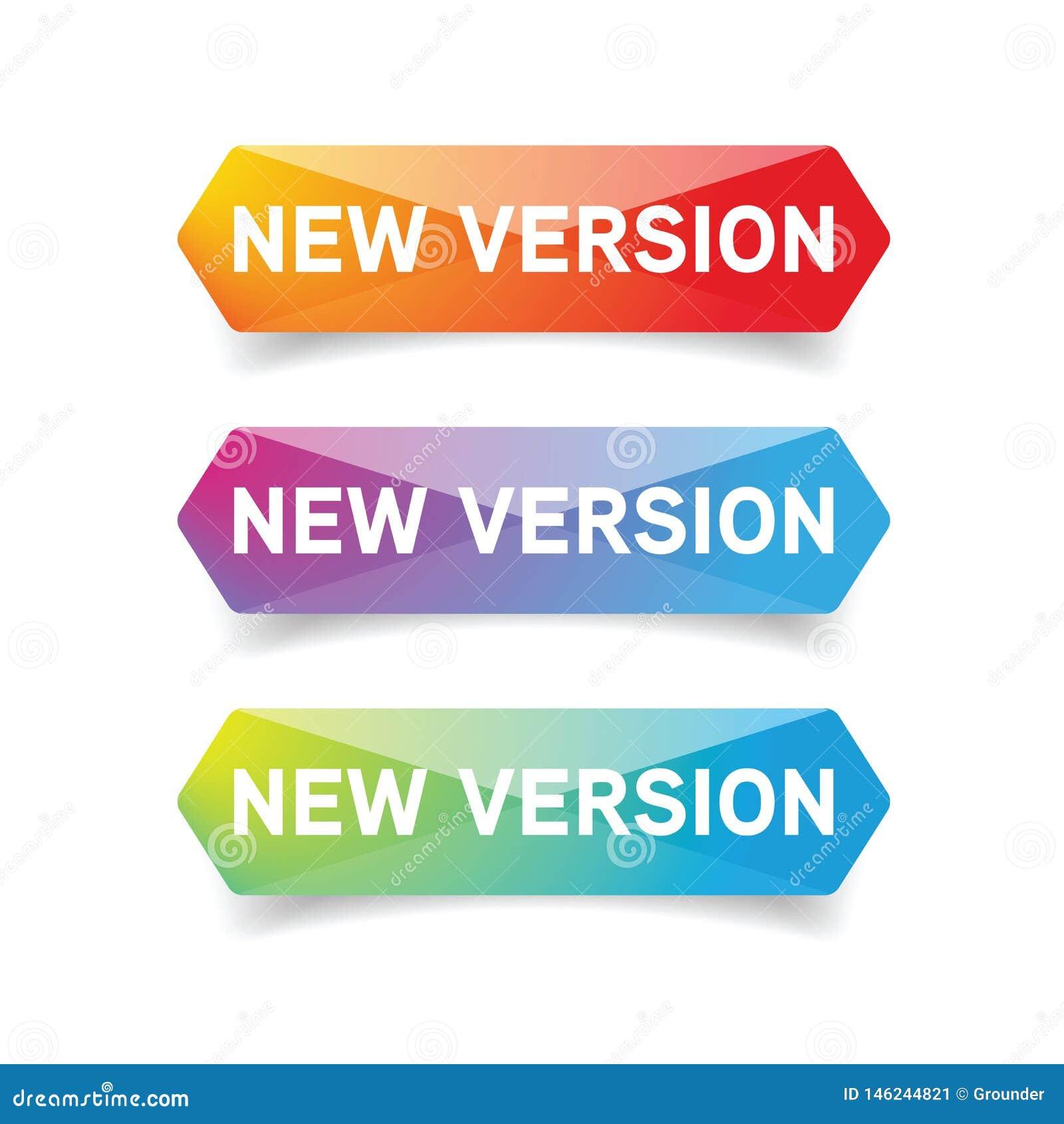 New Version button set