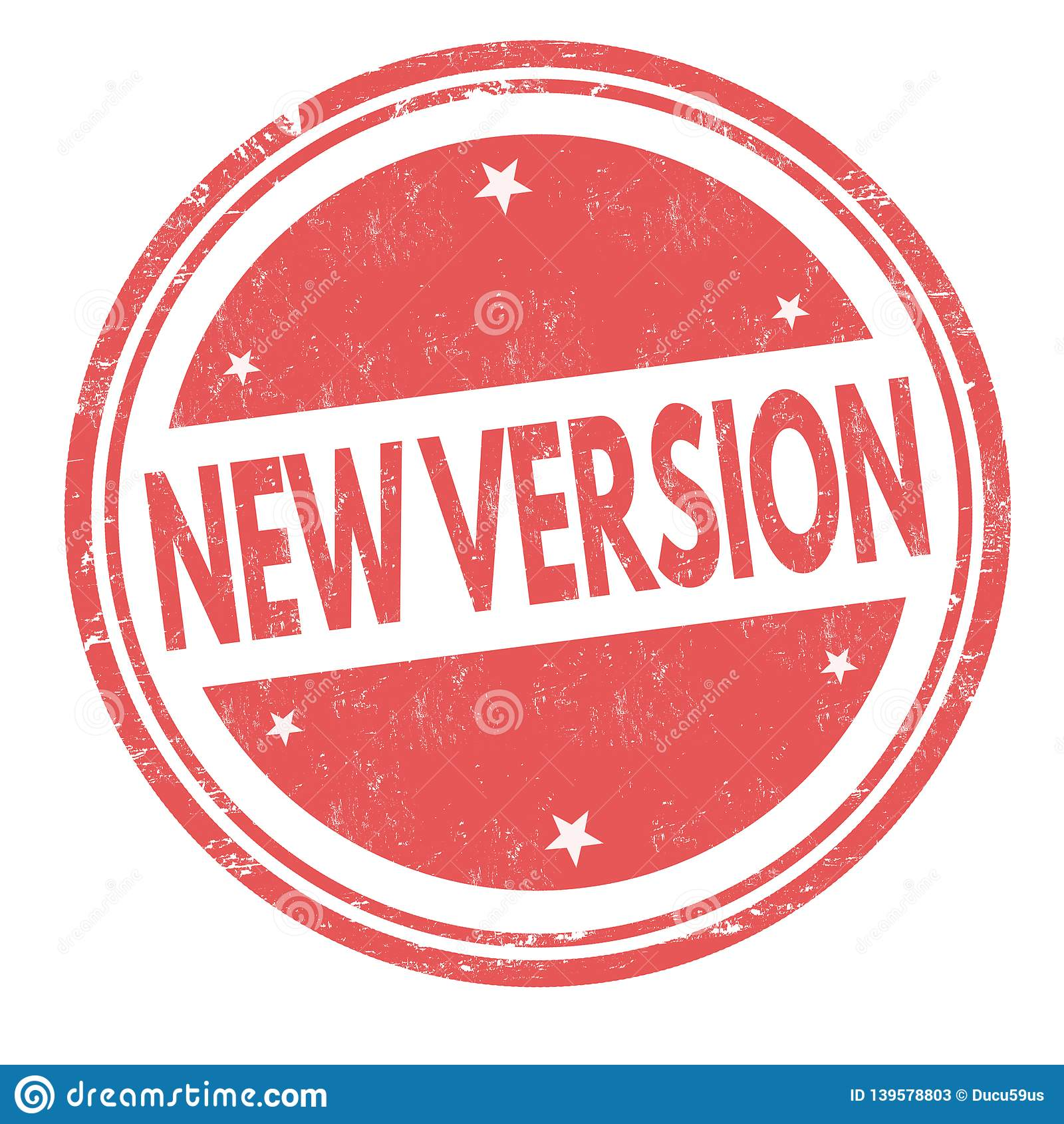 New version sign or stamp