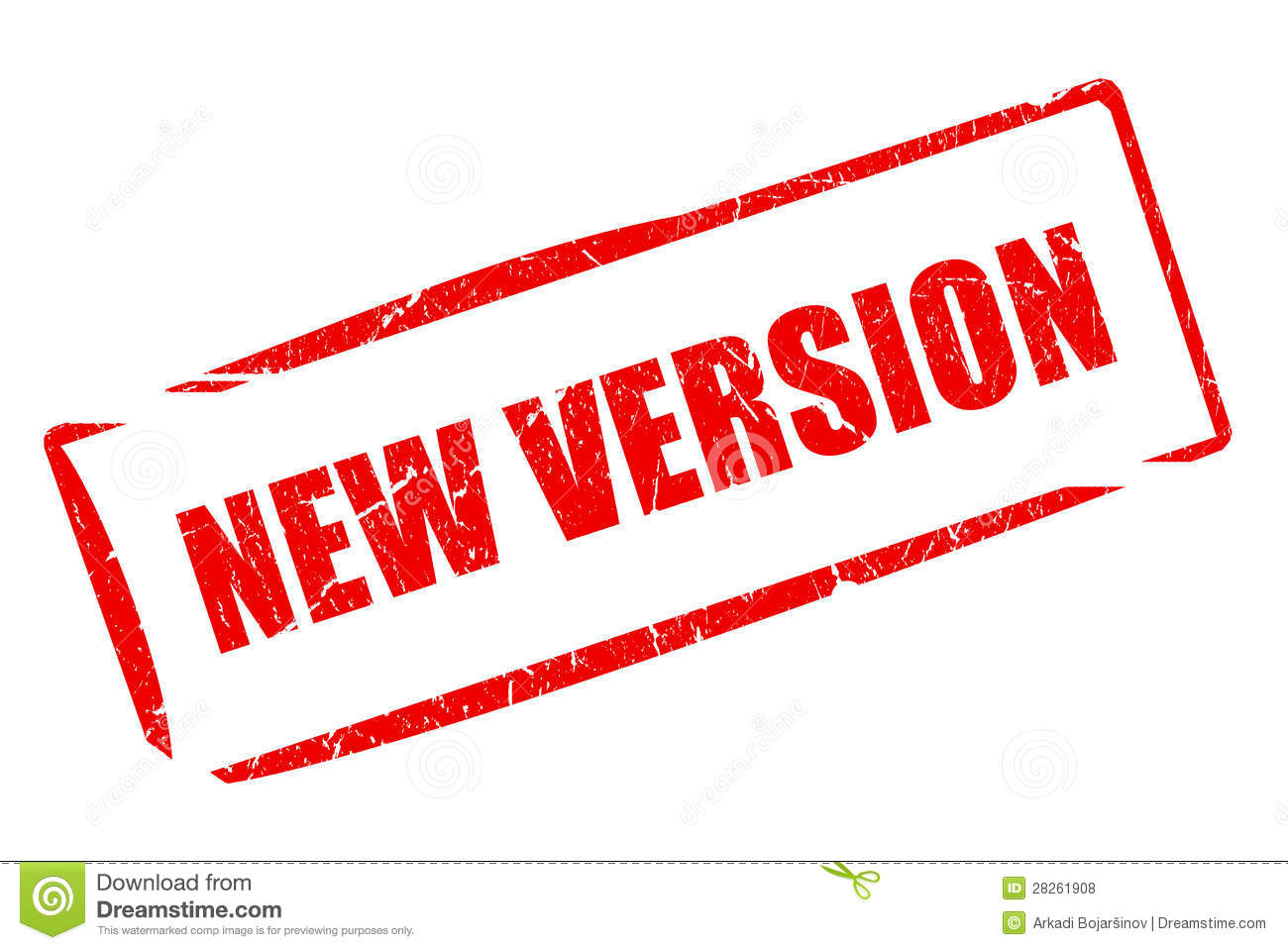 New Version Stamp Royalty Free Stock Photos - Image: 28261908