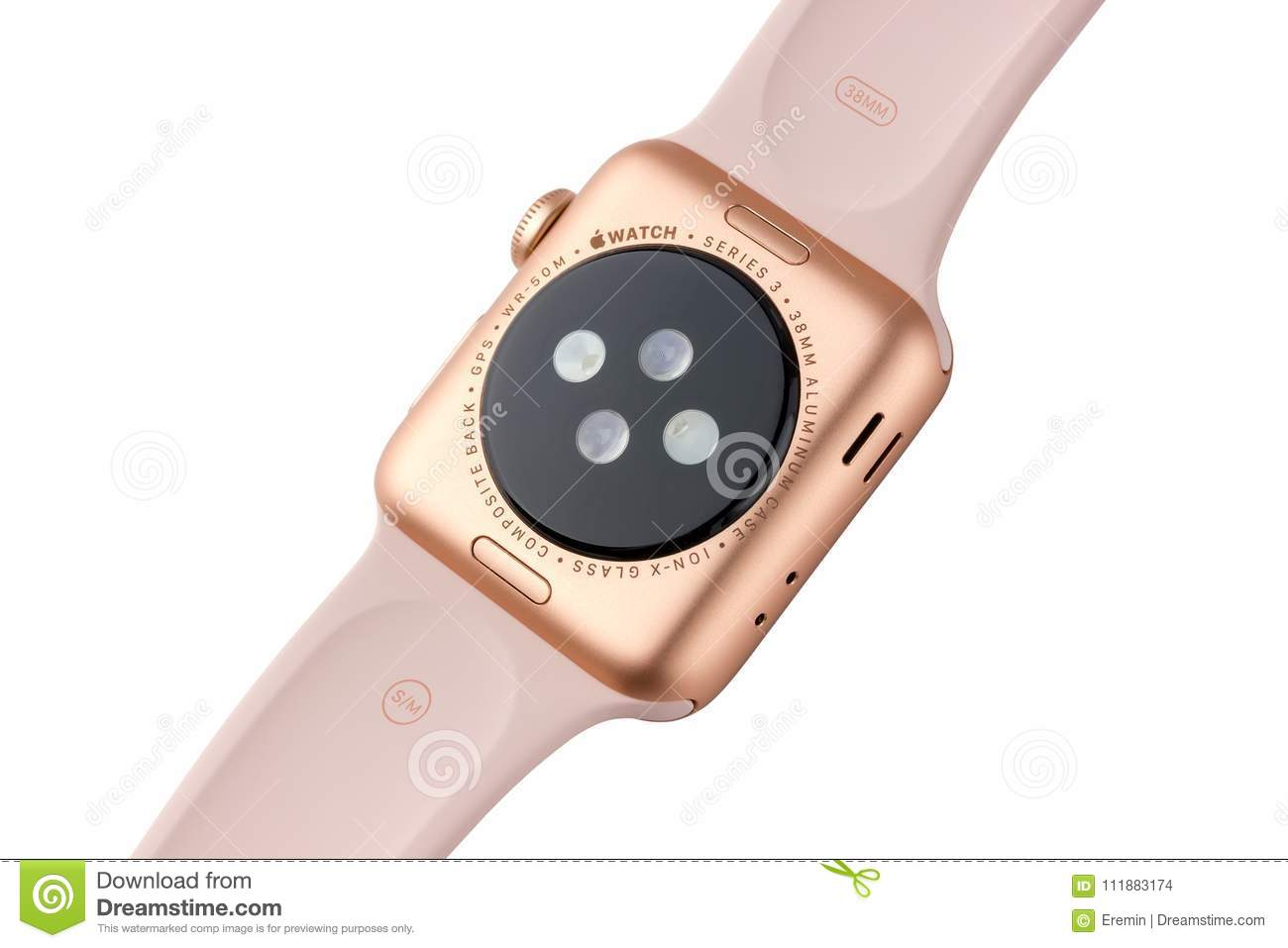 February 2018 Apple Watch Series 3 Colors Gold Aluminum Case With Pink Sand Sport Band Editorial Stock Image Image Of Company Focus 111883174