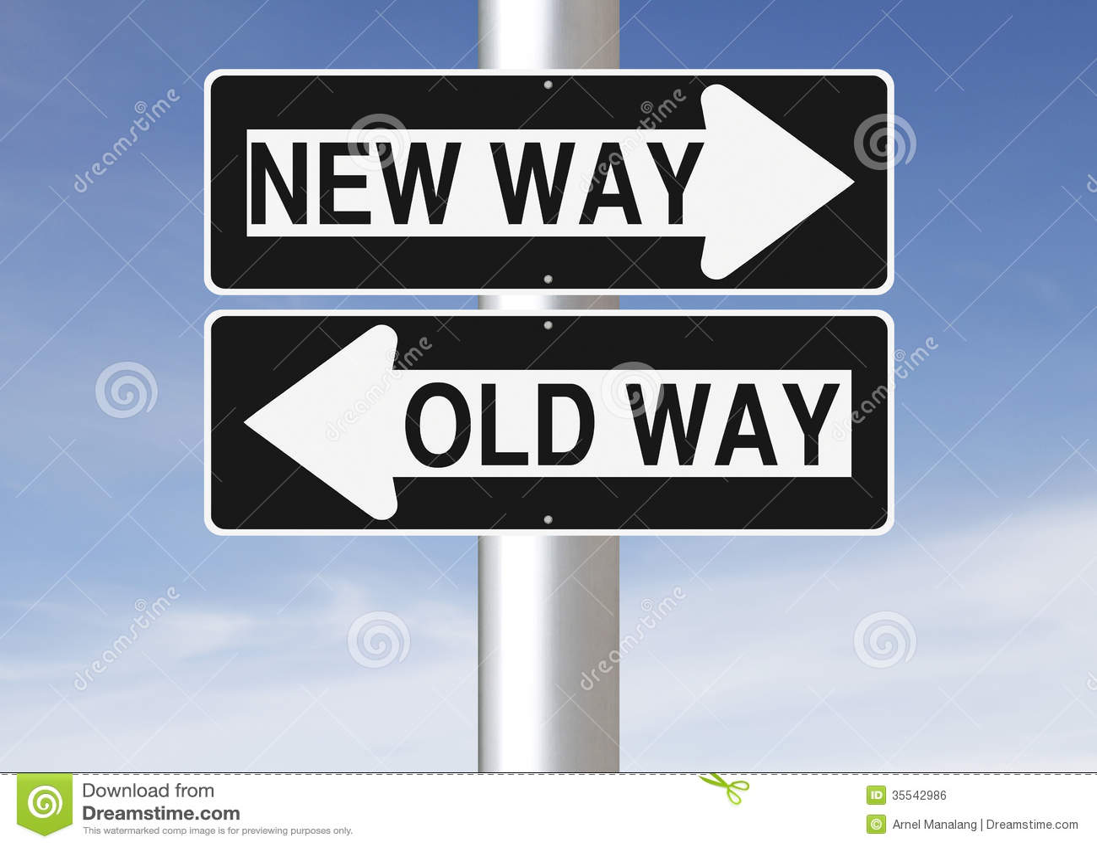 New Way Versus Old Way stock p...