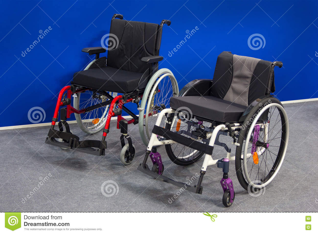 New wheelchairs in the exhibition hall