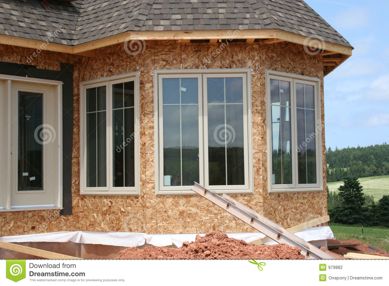 Exterior Windows For Homes : New windows exterior stock photography image