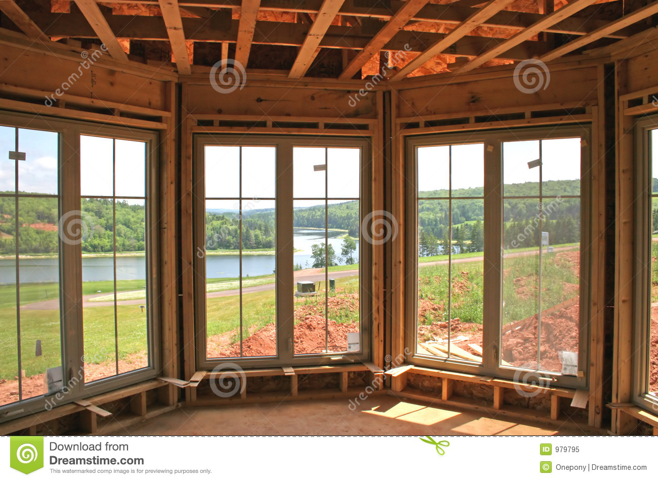 New windows interior royalty free stock photo image 979795 for New house windows