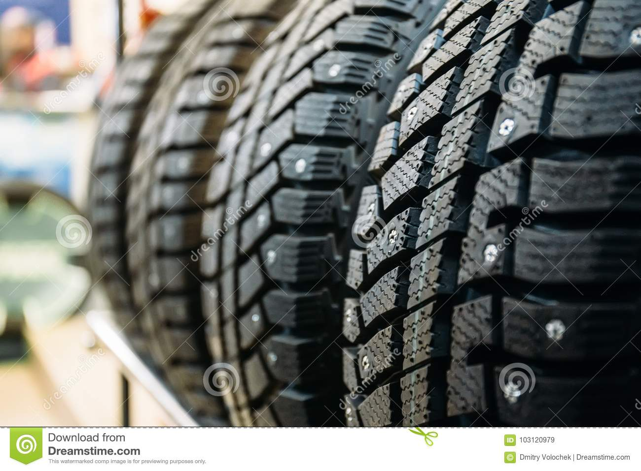 Winter Tires For Sale >> New Winter Tires For Sale In Store Stock Image Image Of