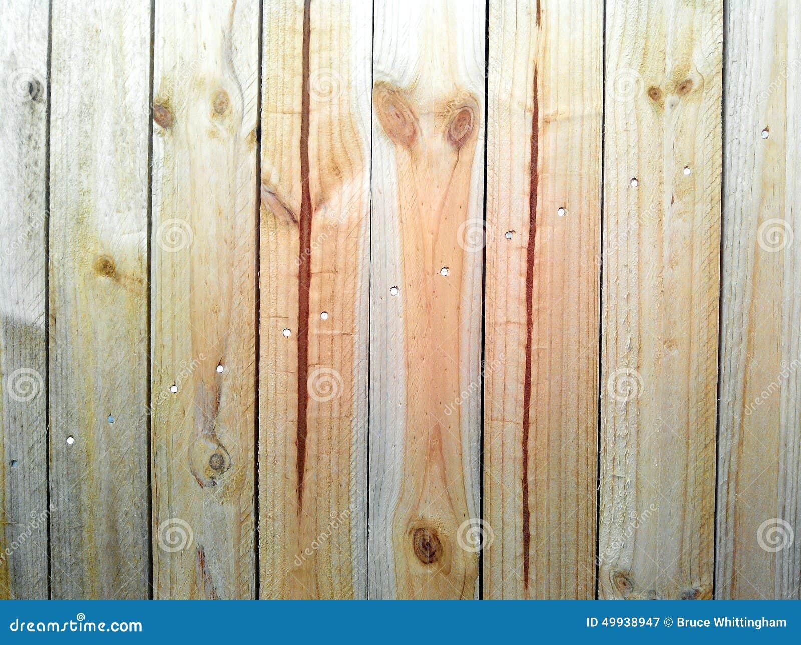 New wood fence stock photo image