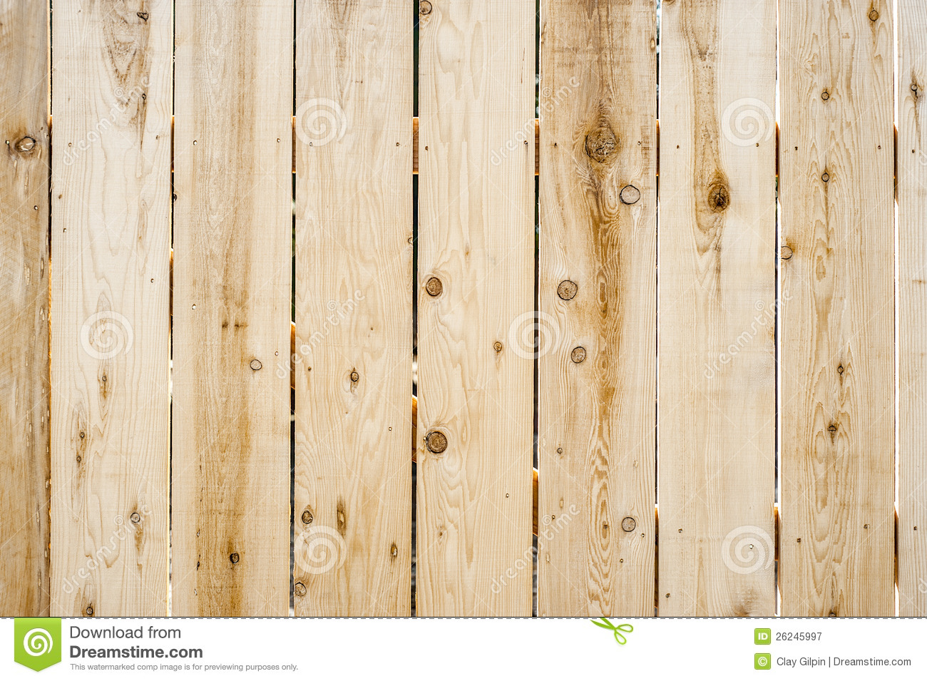 New Wooden Fence Background Royalty Free Stock Photography
