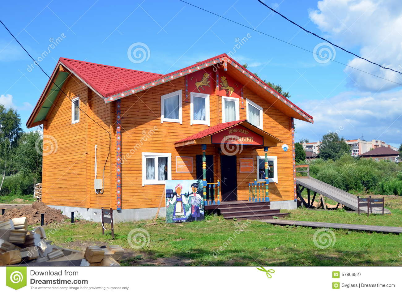 New Wooden House For Sale Editorial Photography Image