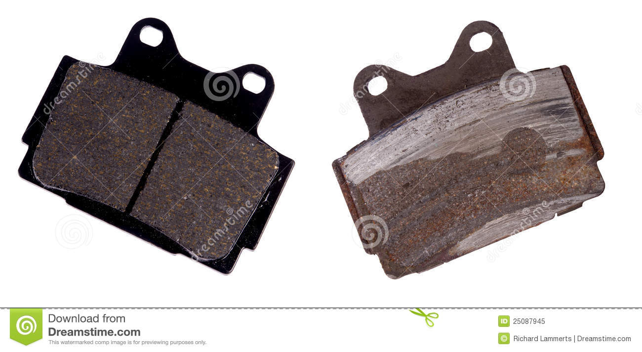 New And Worn Brake Pad Royalty Free Stock Photo - Image ...