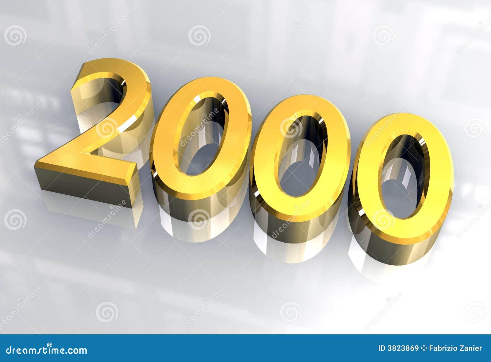 new year 2000 in gold 3d stock illustration illustration of background 3823869. Black Bedroom Furniture Sets. Home Design Ideas