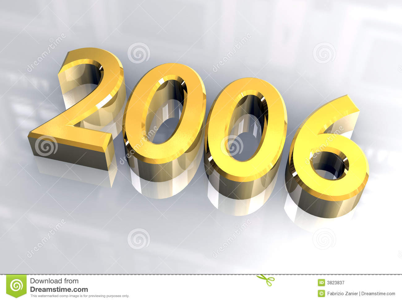 New Year 2006 In Gold (3D) Royalty Free Stock Photography - Image ...