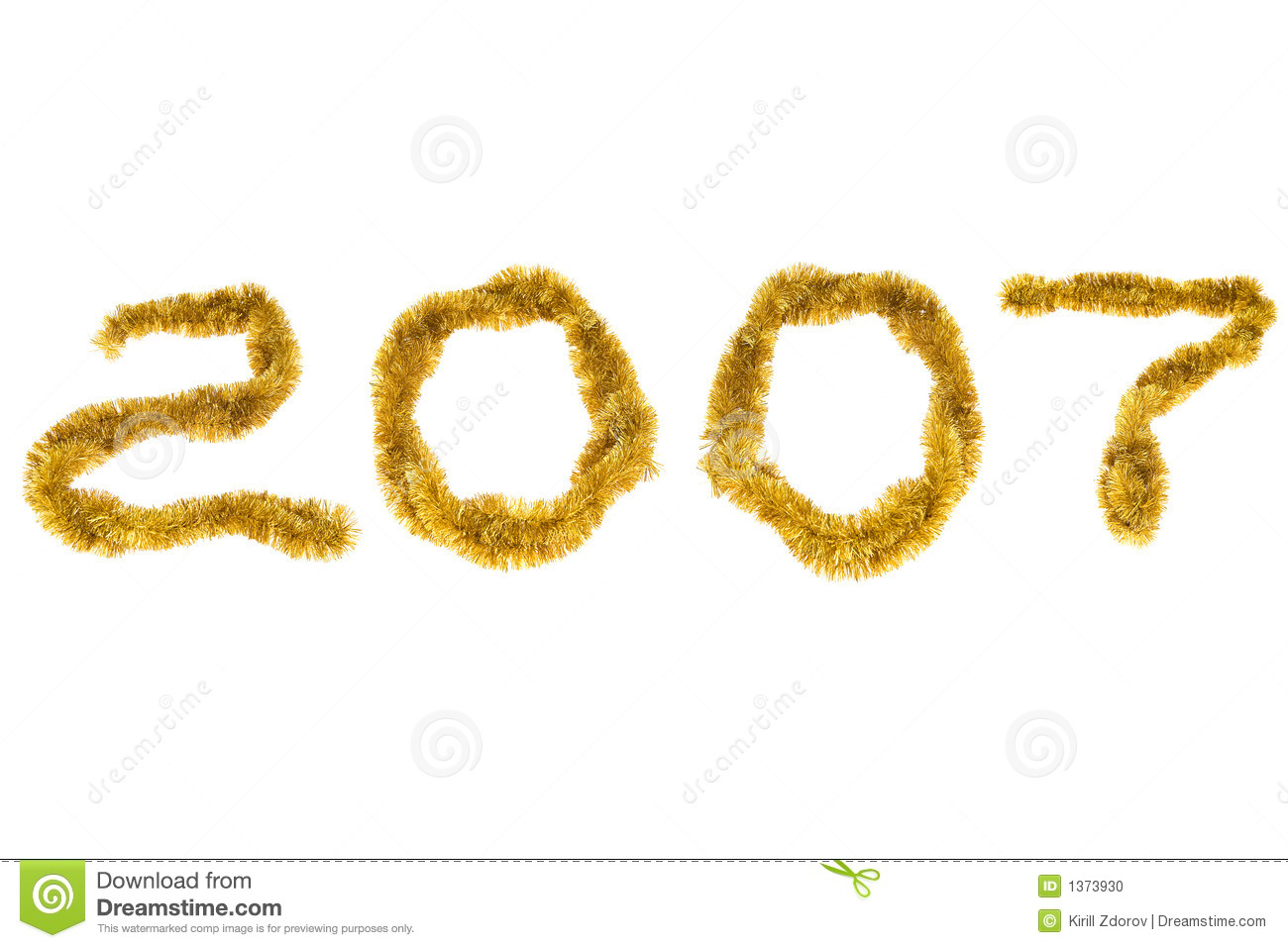 New Year 2007 Stock Photo