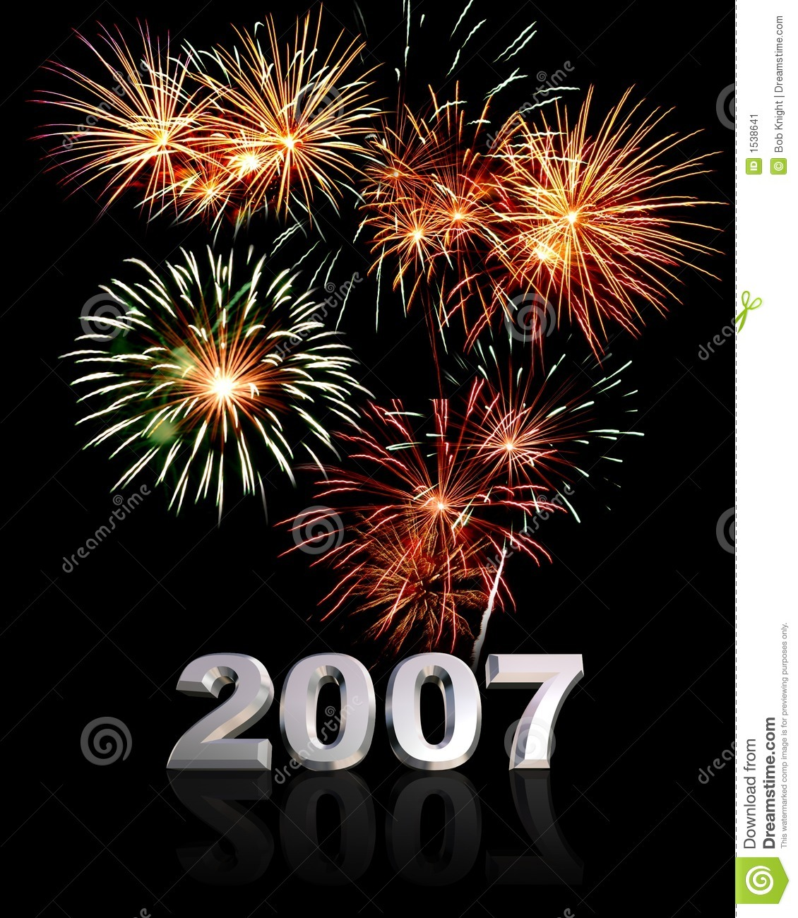 New Year 2007 Stock Image