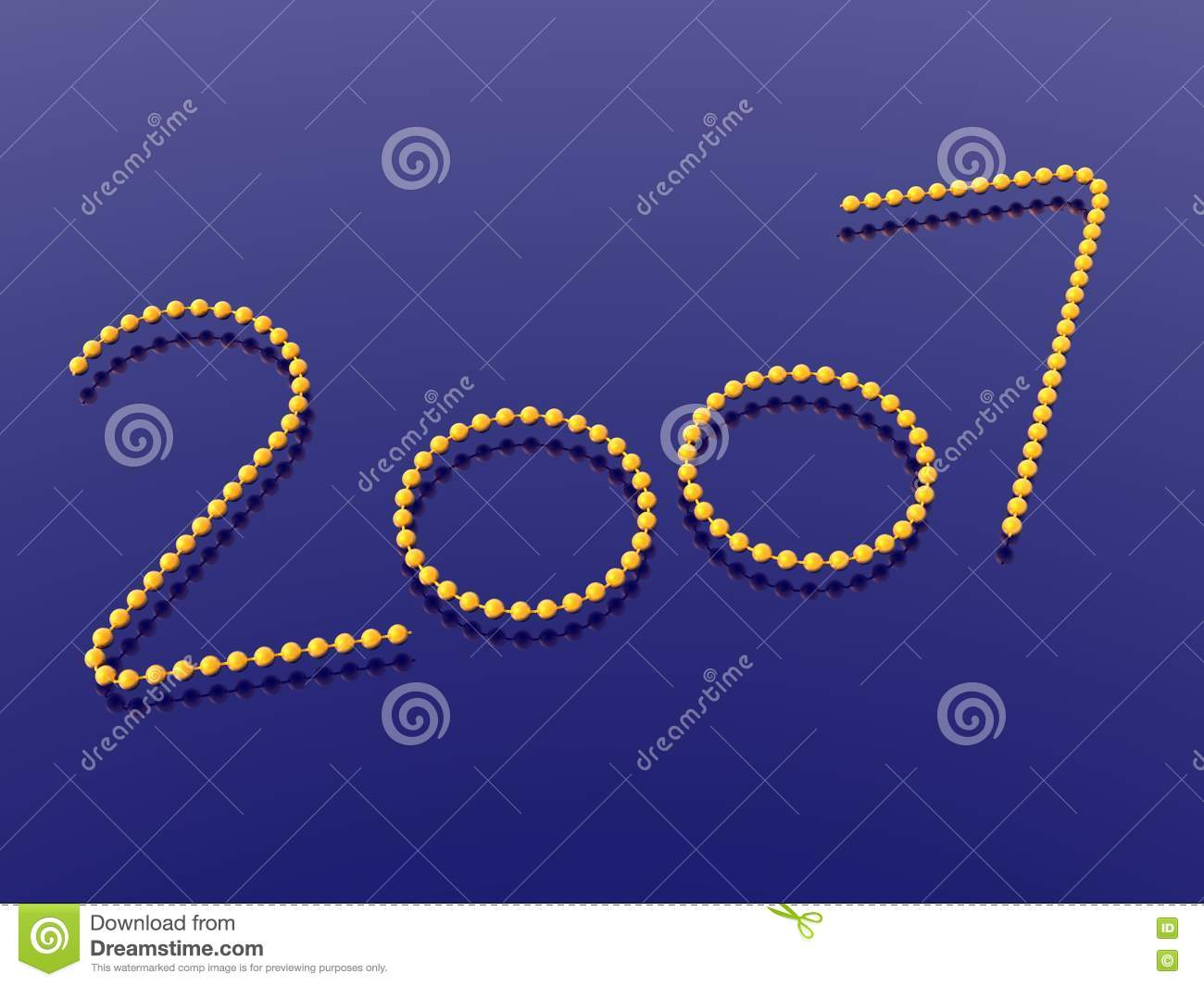 New Year 2007 Stock Illustration  Illustration Of
