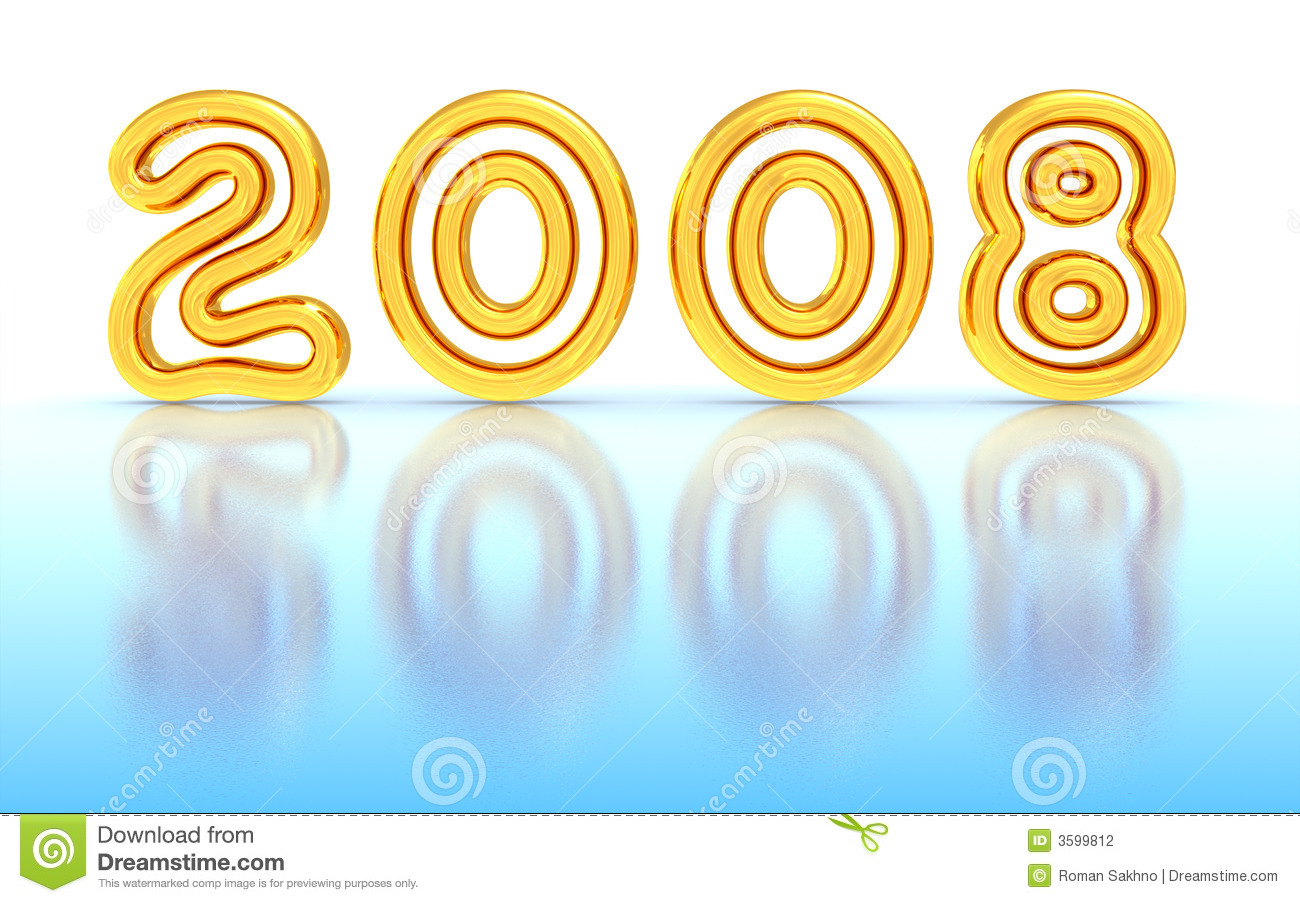 New Year 2008 Stock Photography - Image: 3599812