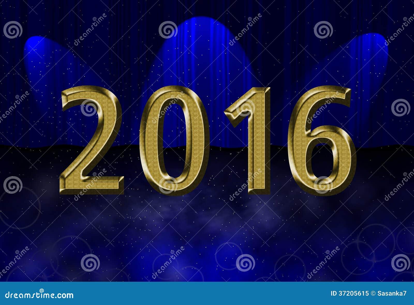 Night universe drop scene, 2016 new year card theme.