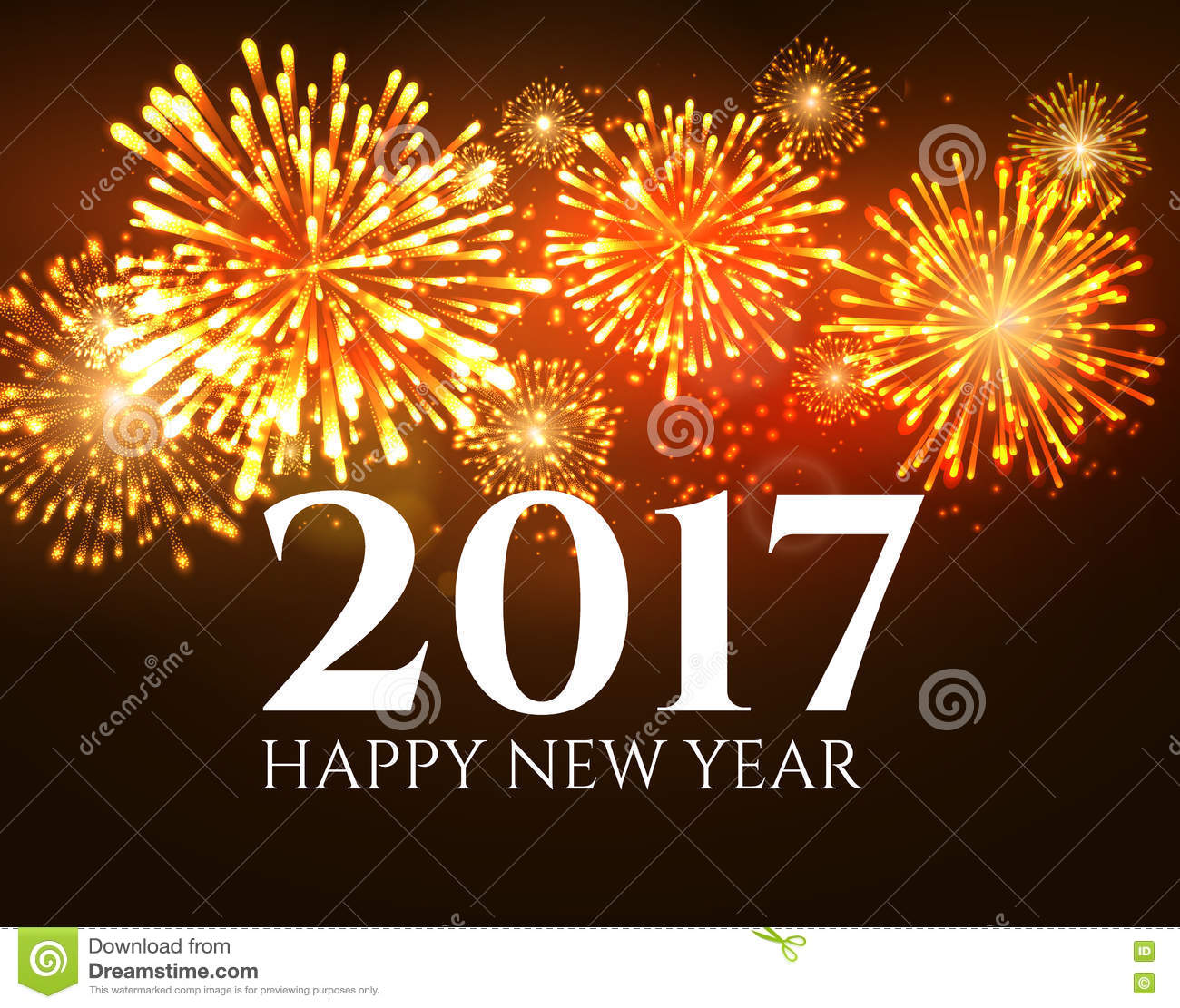 2017 New Year Background Banner Abstract Firework Poster Xmas