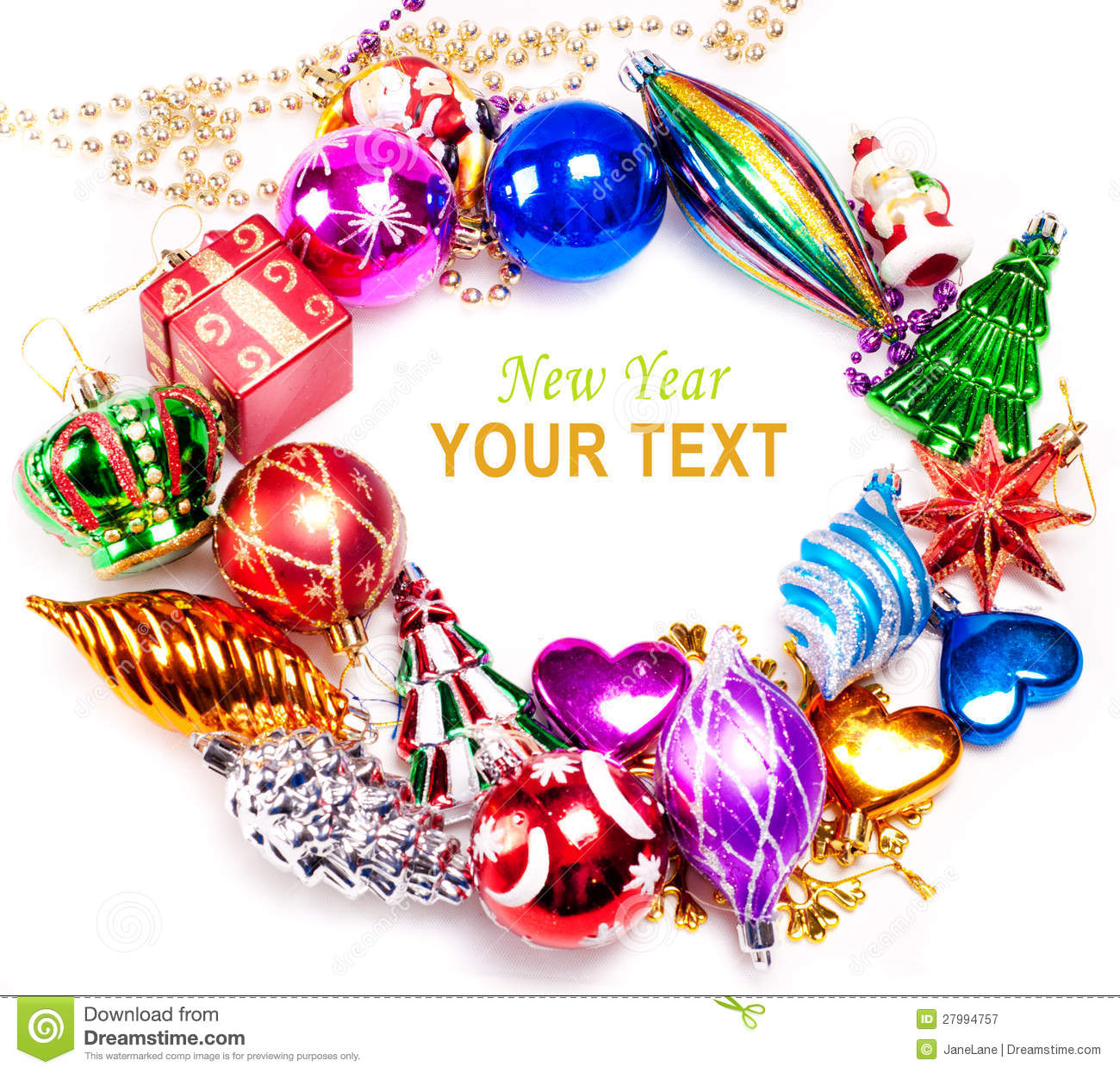 colorful new year decoration - photo #20