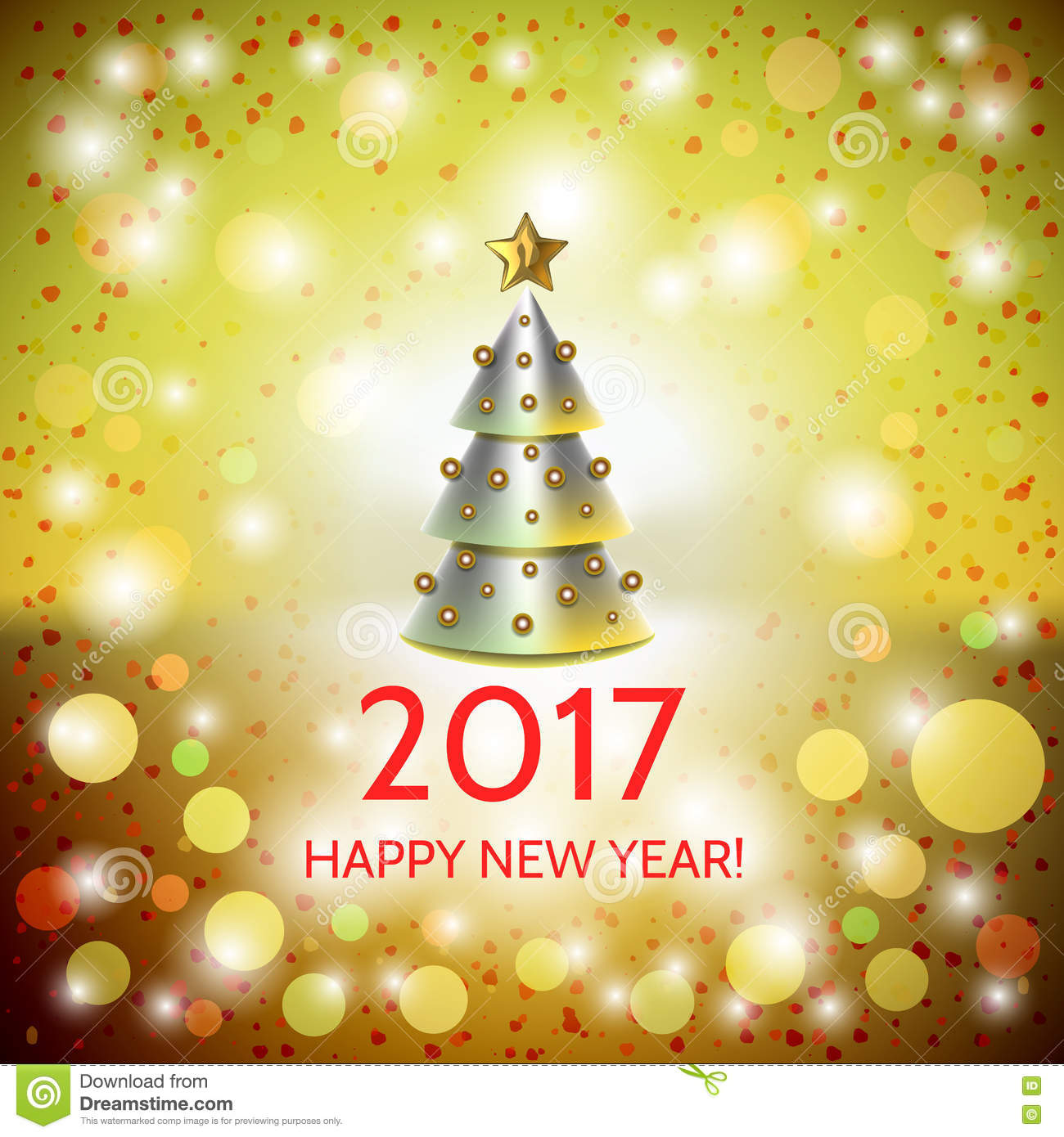 new year background with elegant christmas tree