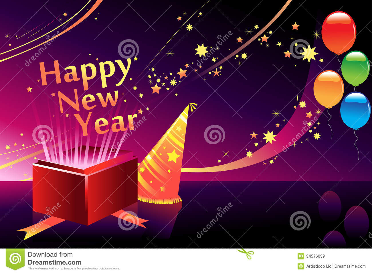 a vector illustration of new year background with copyspace