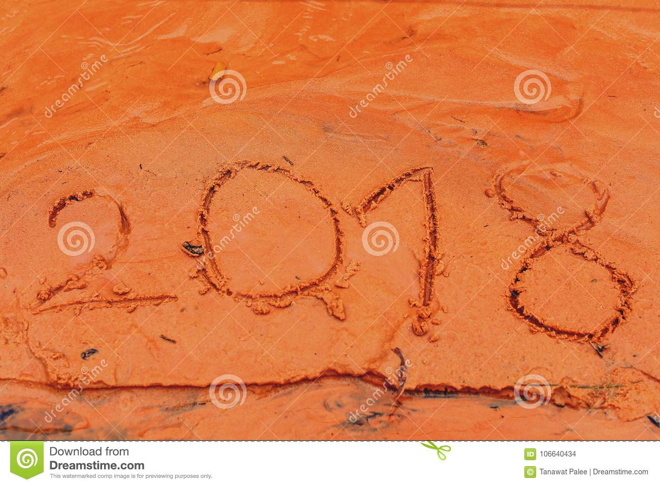 2018 New Year stock photo. Image of sandn 58a99f0065a