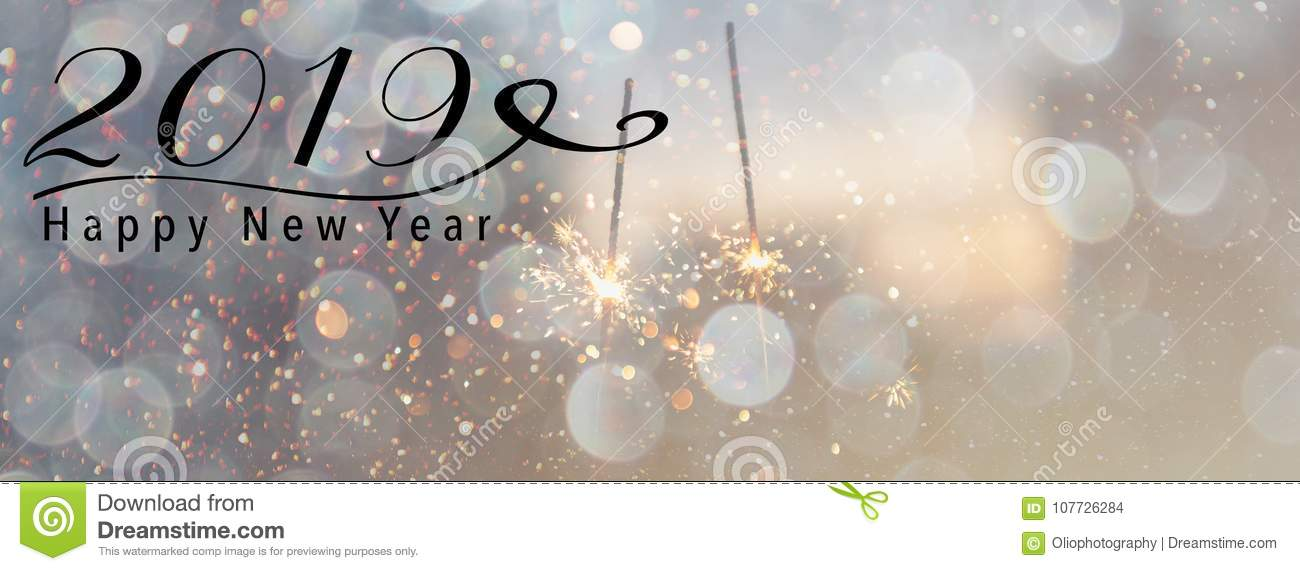2019 New Year Banner Header For Social Media Stock Photo Image Of