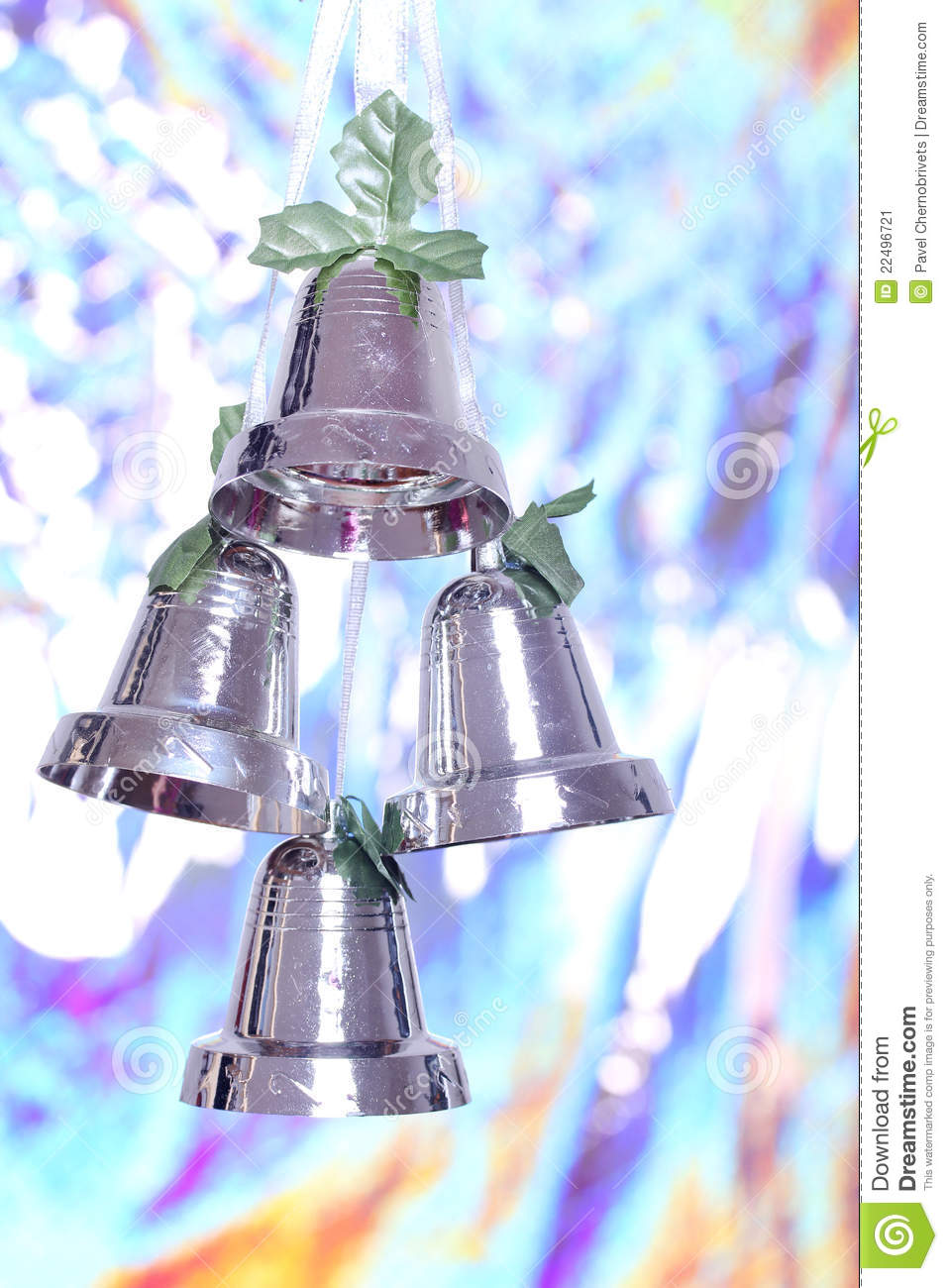New year bells stock image