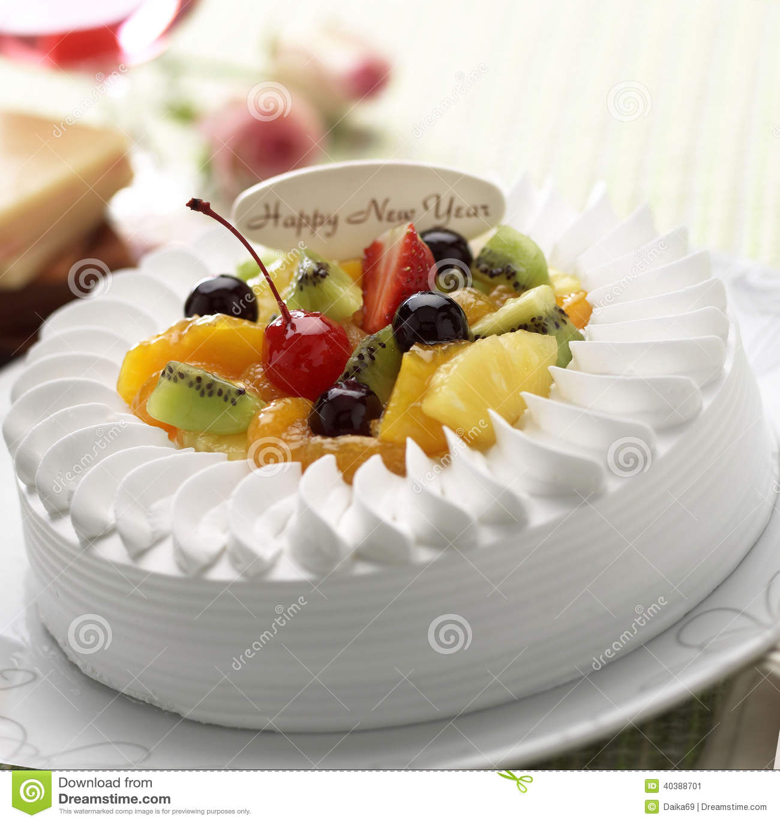 New Year Cake Images Free Download : New year cake stock image. Image of fruit, freshness ...
