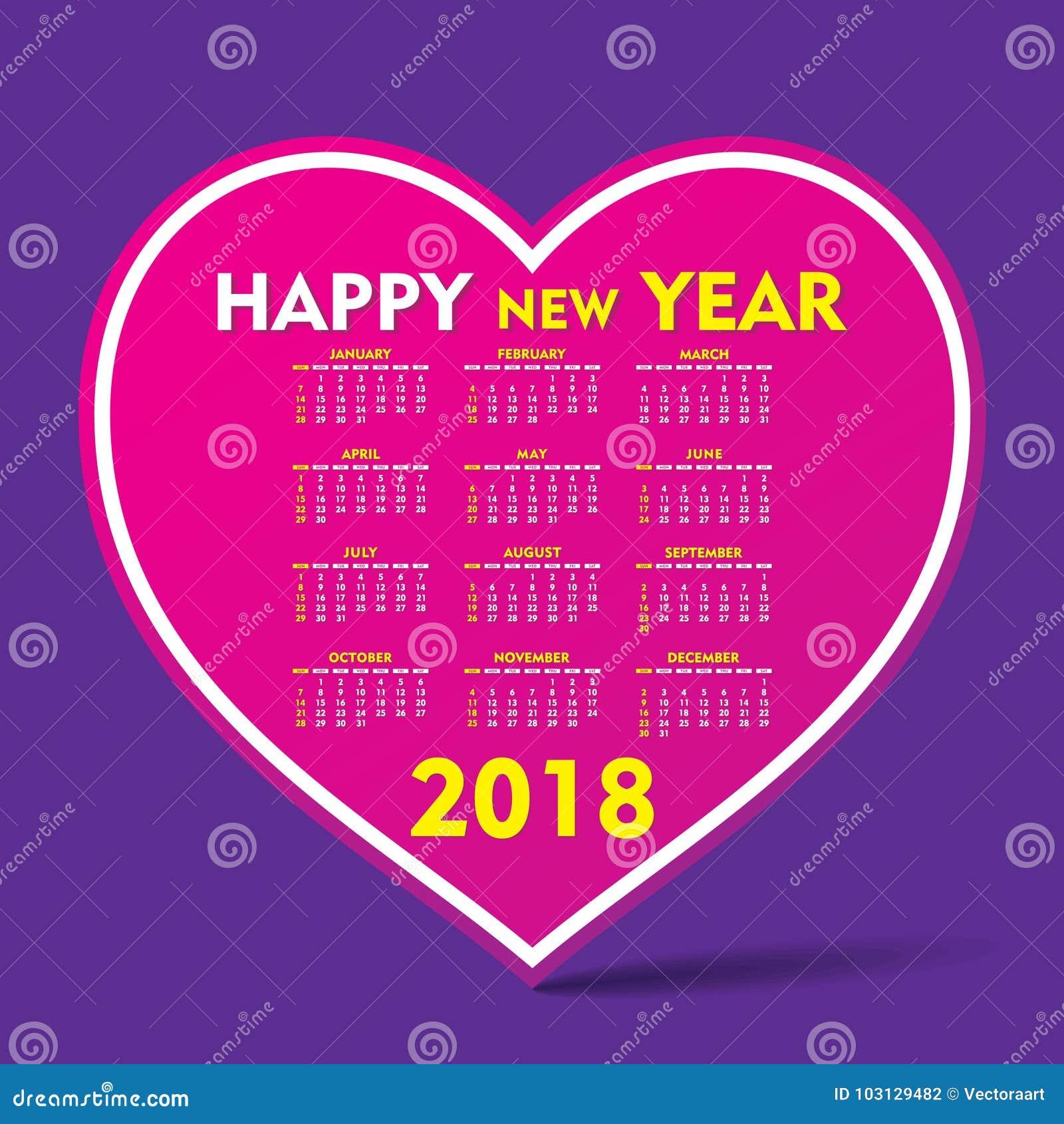 New Year Calendar Design : New year calendar design stock vector image