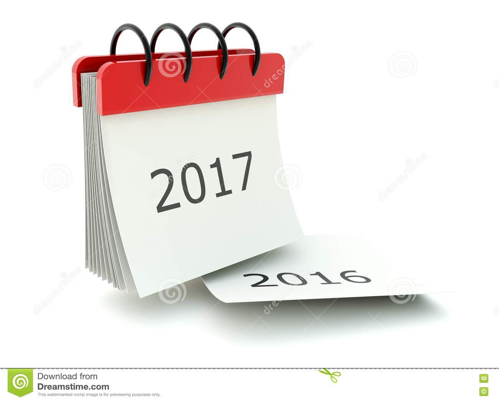 2017 New Year Calendar Icon On White Stock Illustration - Image ...