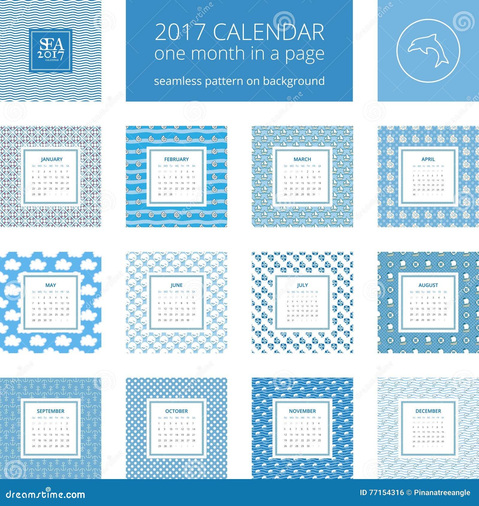 New Year Calendar Template Stock Vector Illustration Of Dolphin - Calendar format