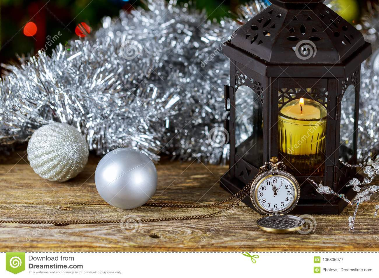 download new year candle retro clock vintage leather suitcases old fashioned christmas tree decorations