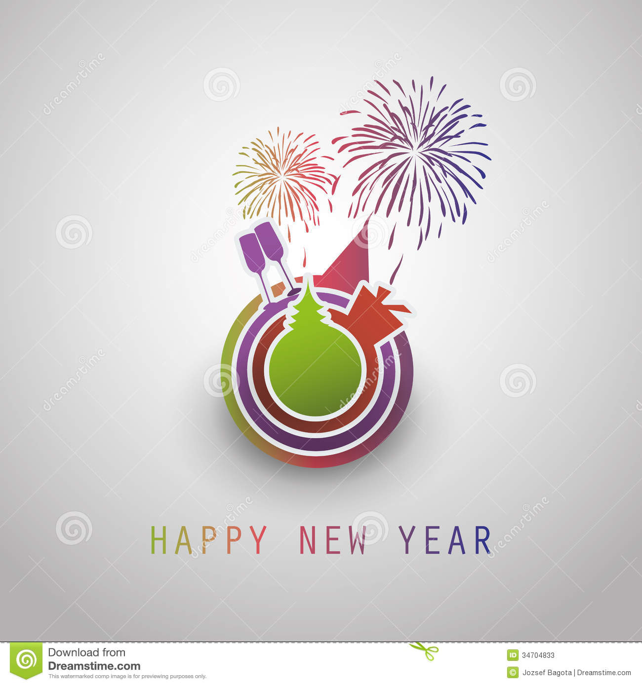 New Year Card Background 2014 Stock Vector Illustration Of