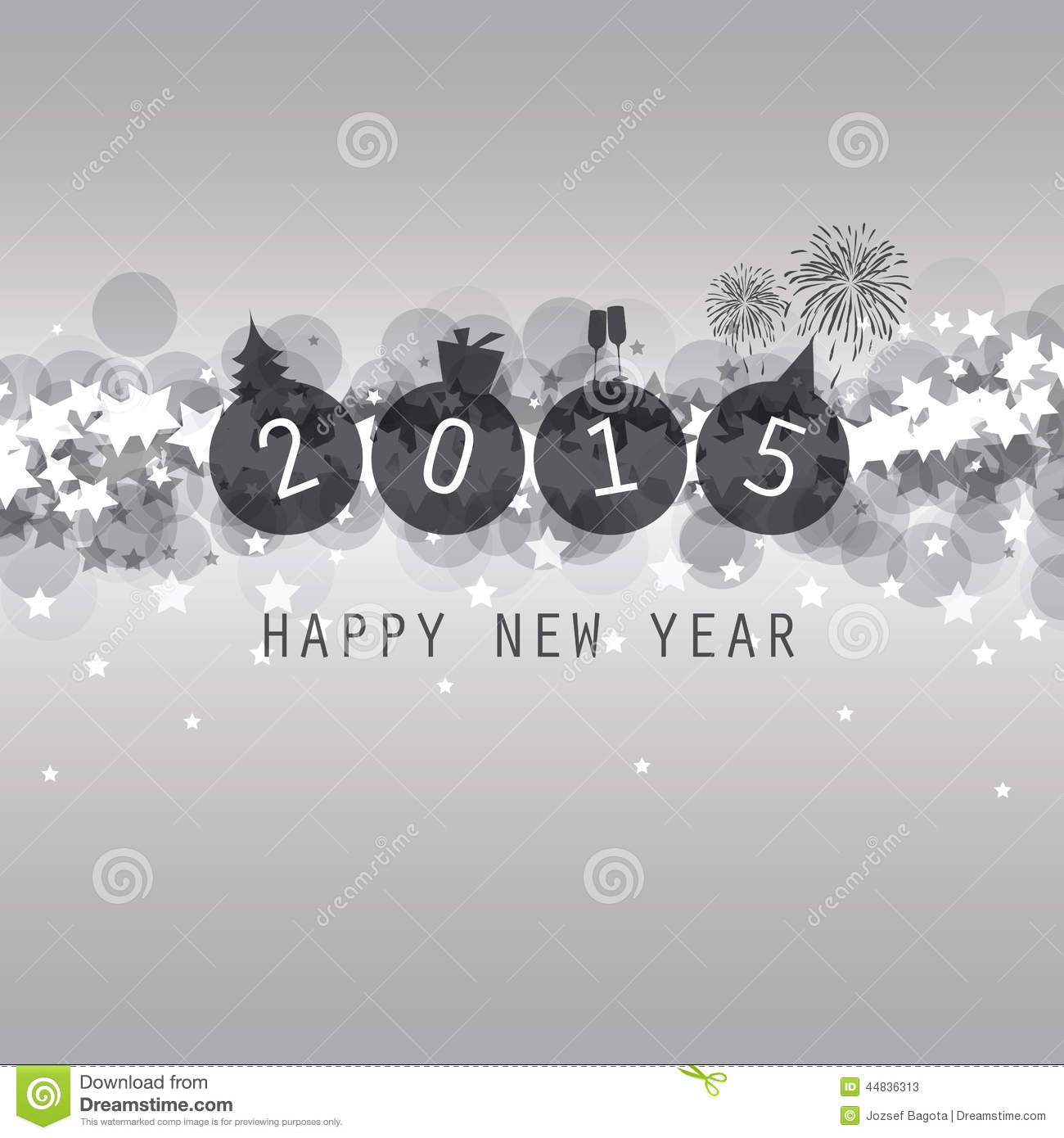 new year card cover or background template 2015