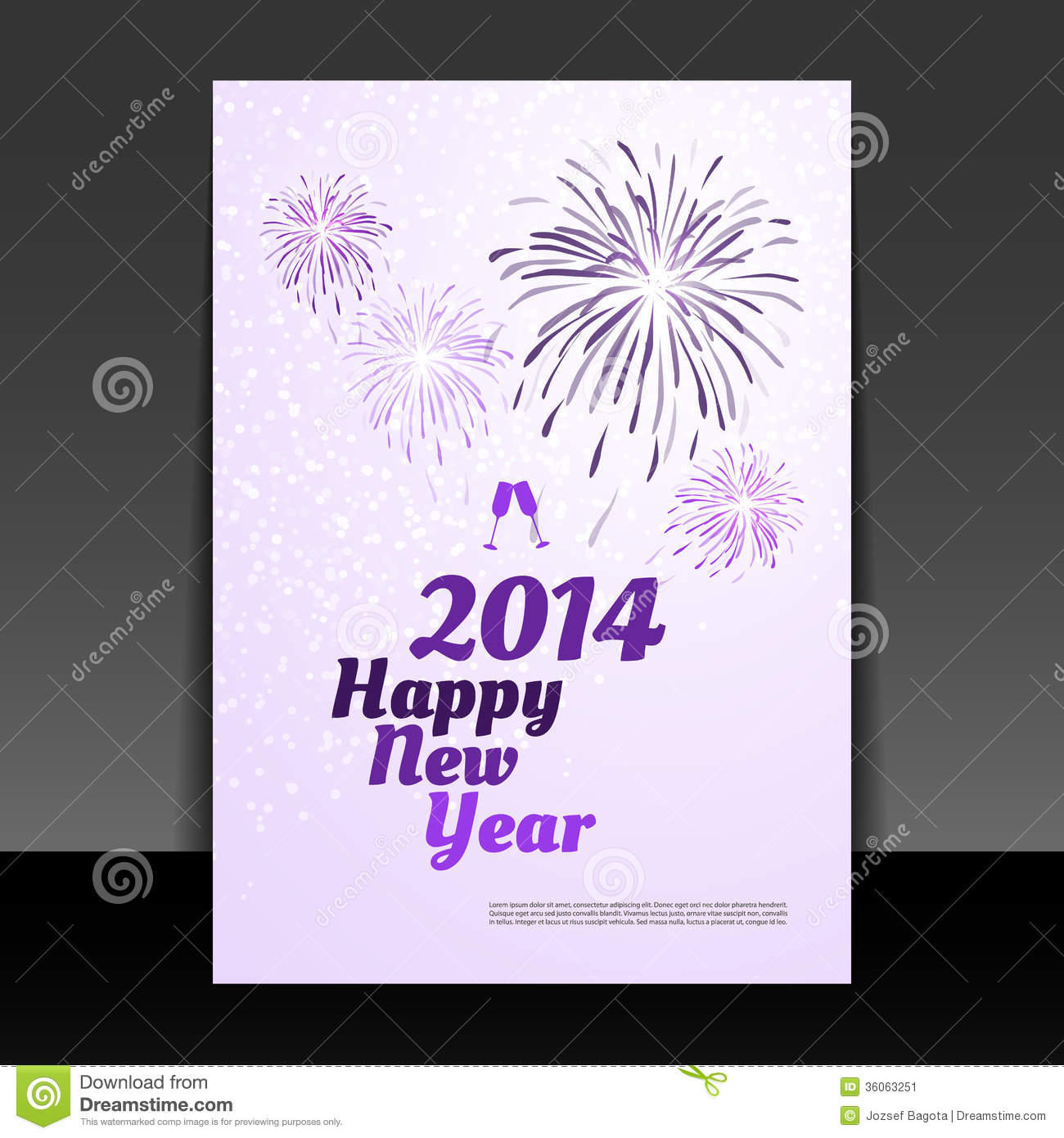 new year card happy new year 2014