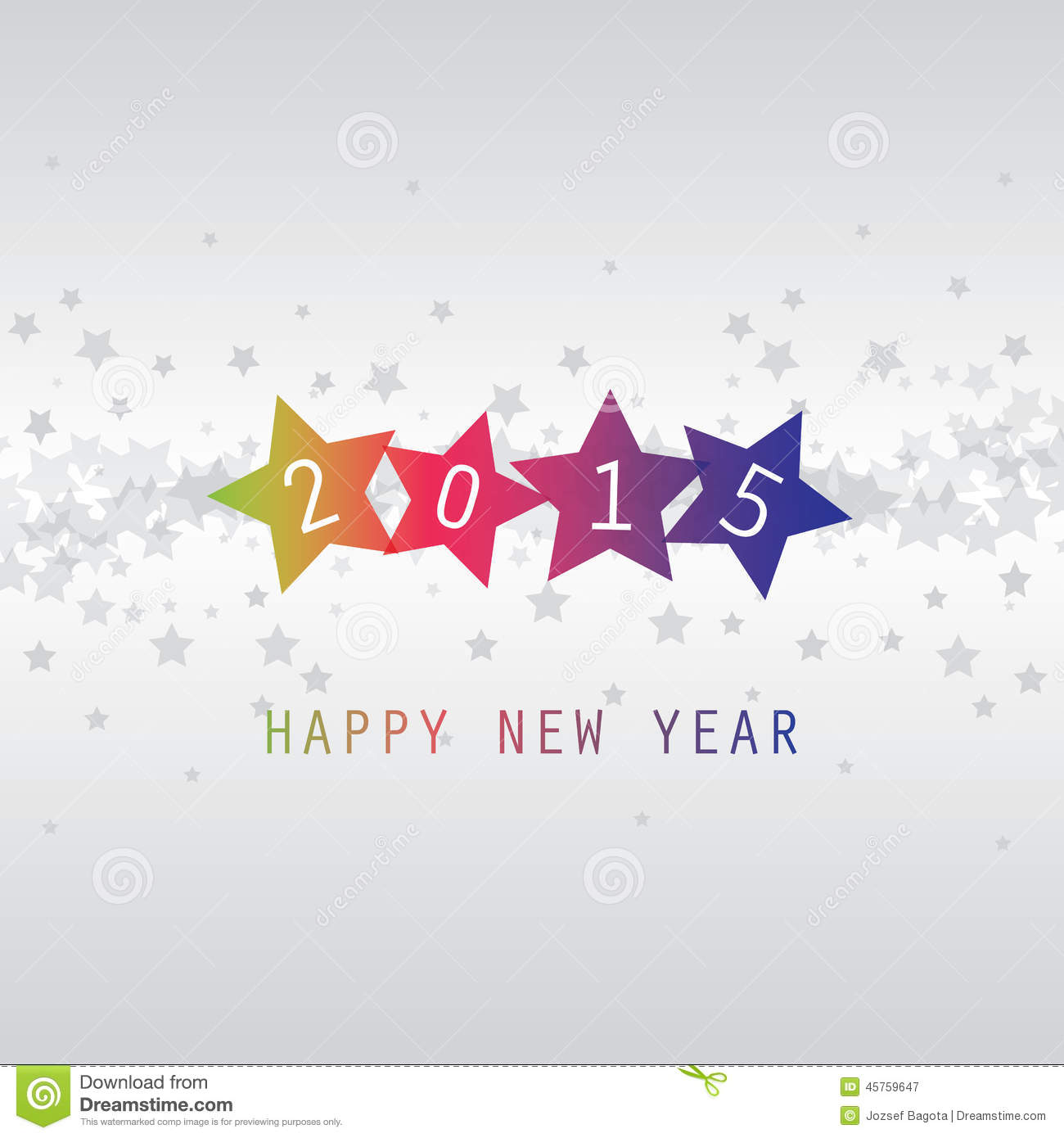 New Year Card - Happy New Year 2015 Stock Vector - Image ...