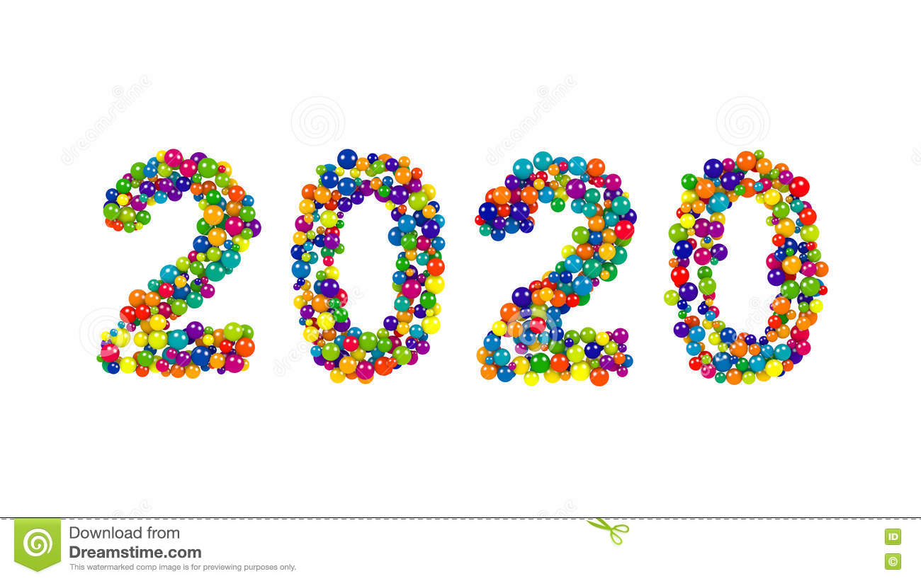 2020 New Year Card Or Template Stock Illustration ...