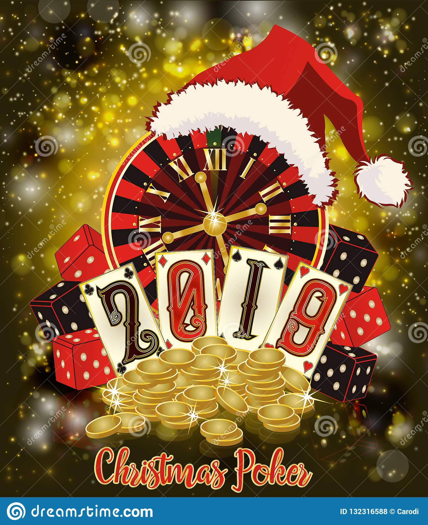 New 2019 Year Casino Wallpaper Christmas Poker Stock Vector Illustration Of Casino Chip 132316588