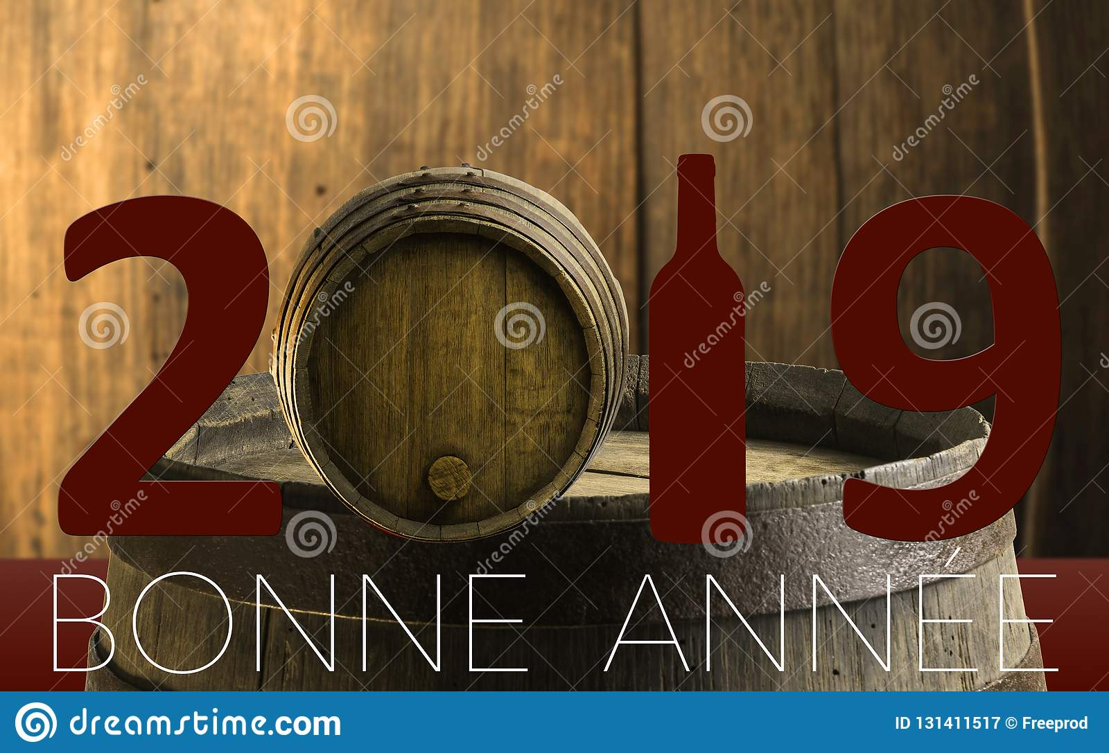 new year celebration with wine 2019