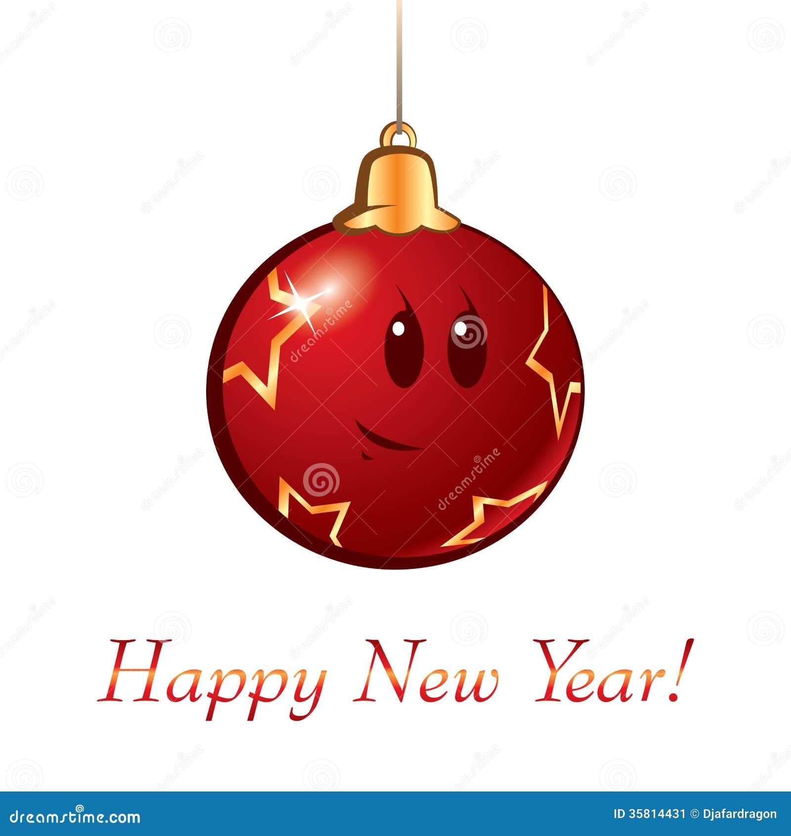 New year christmas cartoon ball stock image