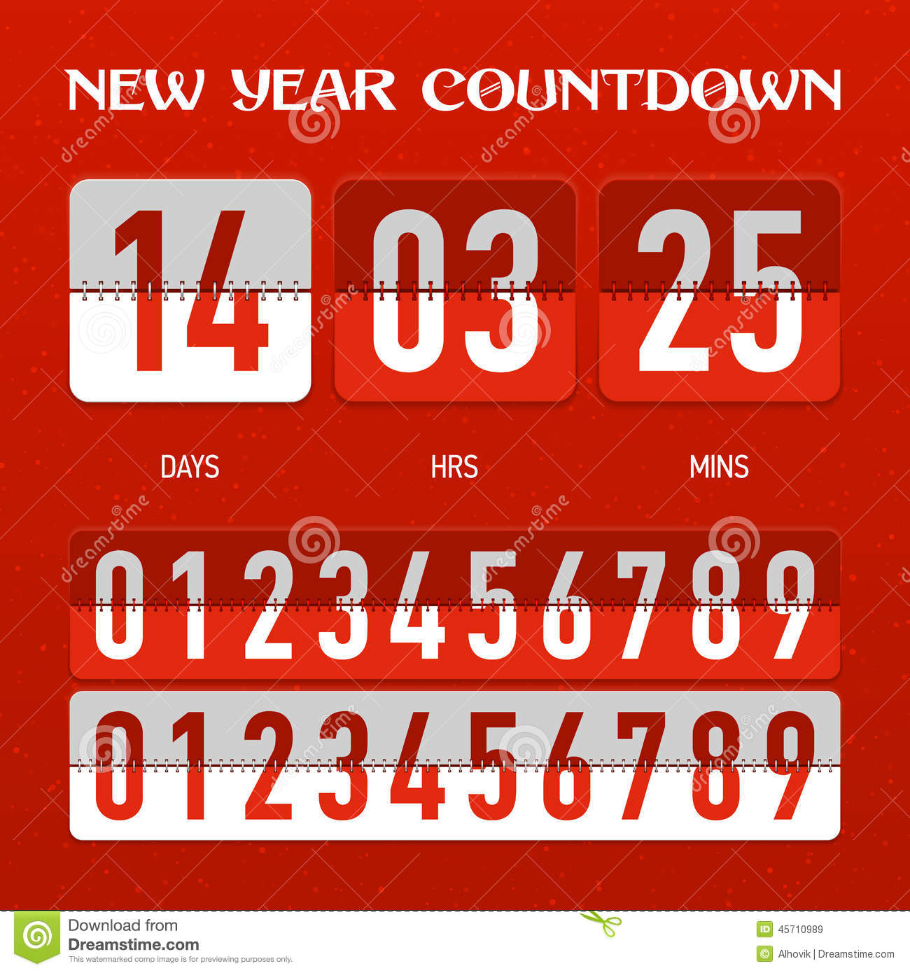 download new year or christmas countdown timer stock vector illustration of remaining number