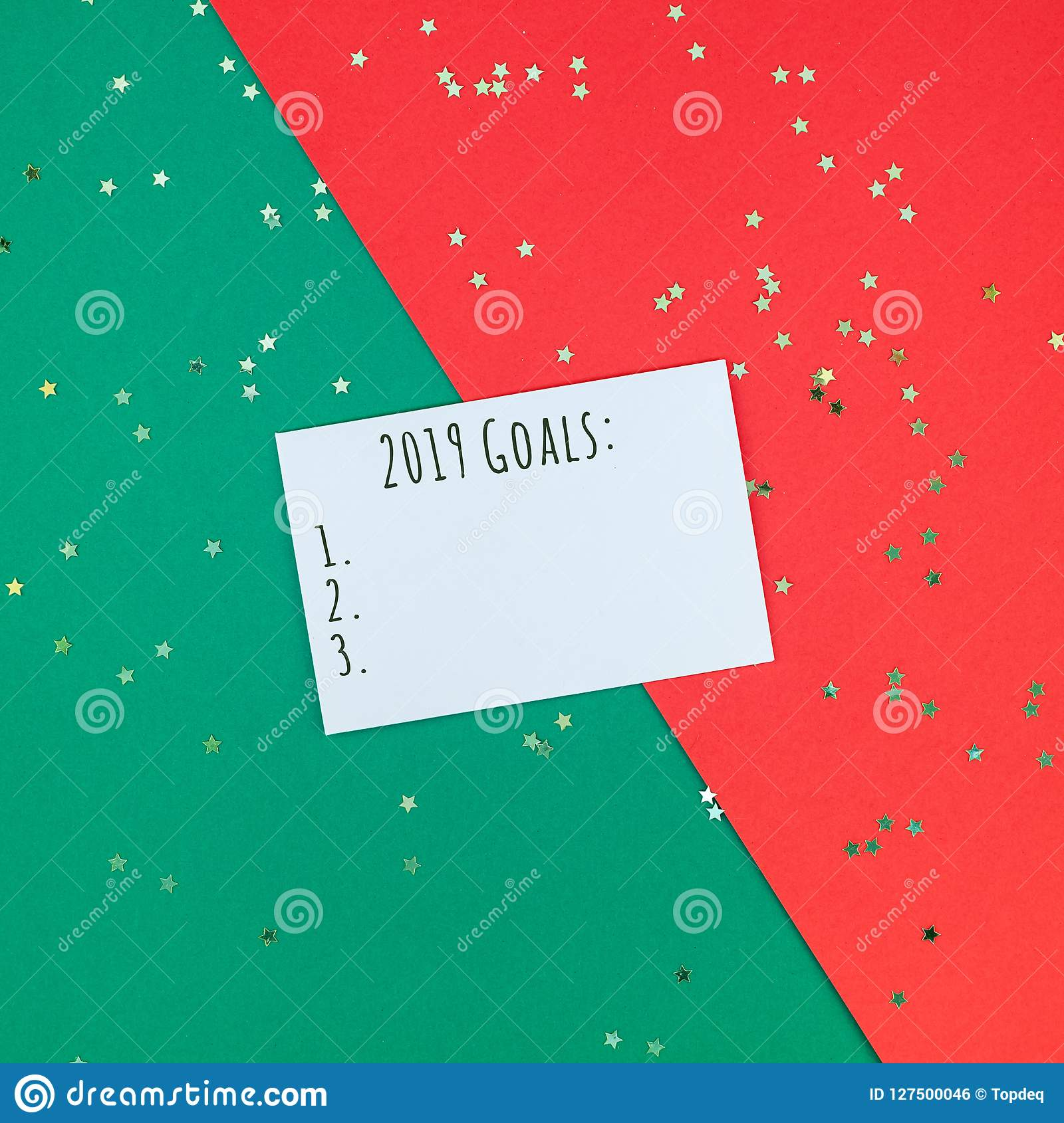 Christmas Greetings Letter.New Year Or Christmas Greeting Letter Mockup Stock Photo