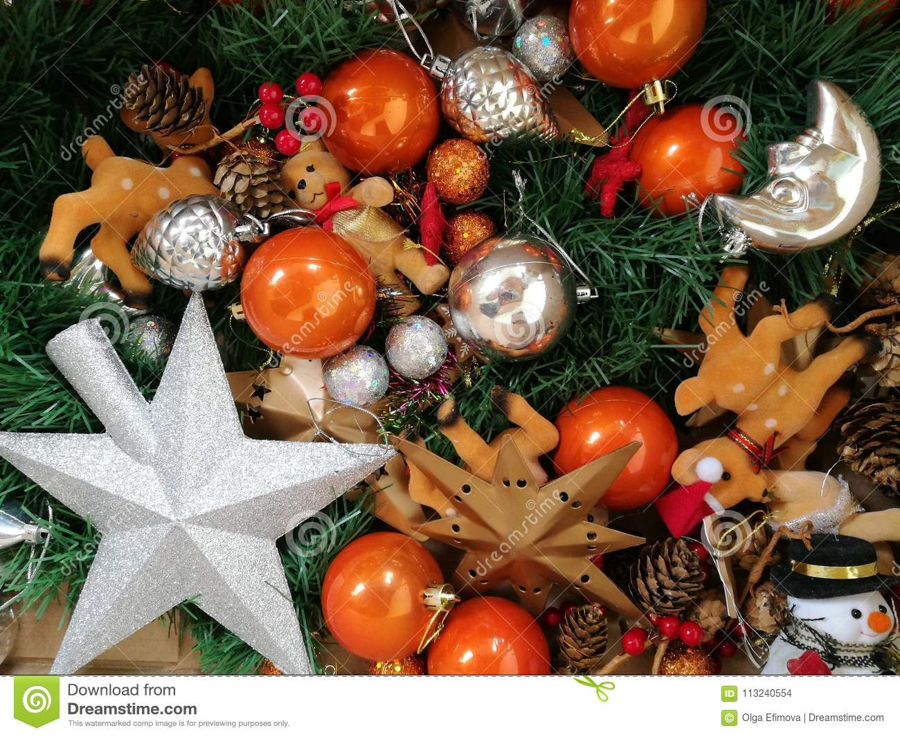 new year christmas tree decorations - Orange Christmas Tree Decorations