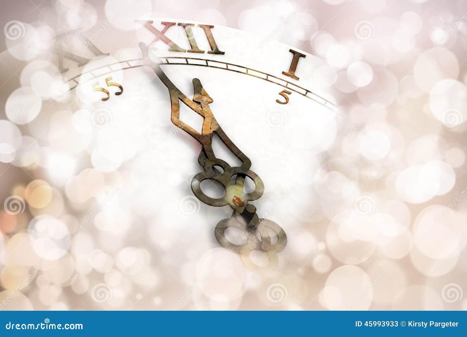 New Year clock background stock illustration. Illustration of clock ...