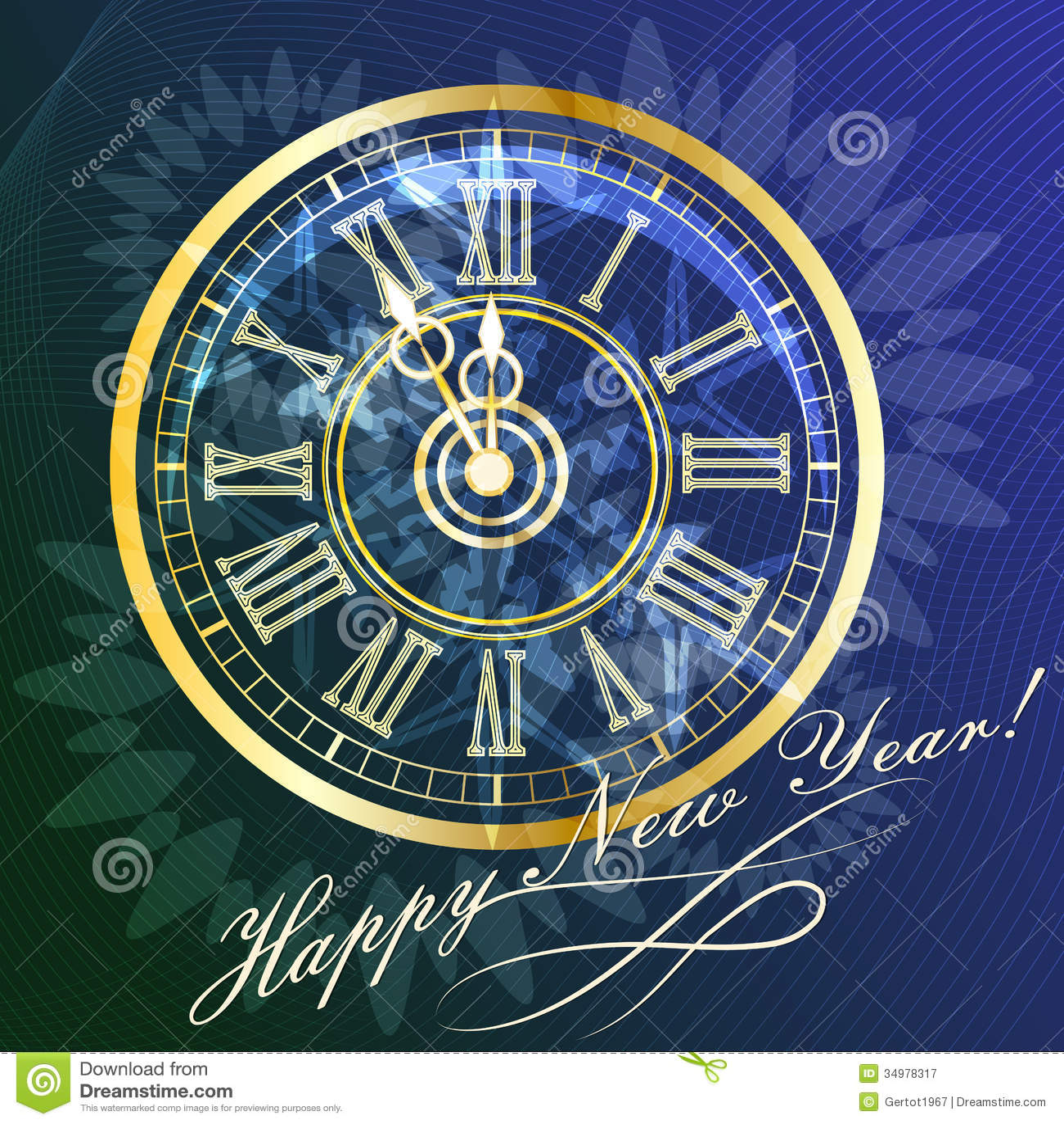 New Year clock stock vector. Illustration of clock ...
