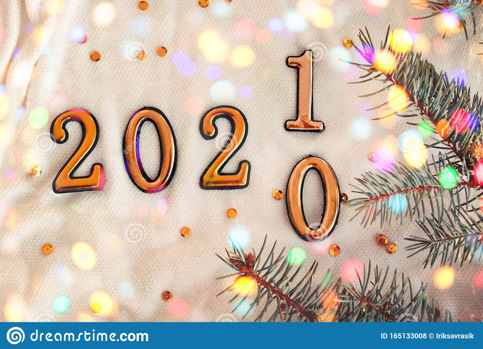 New Year Concept 2020 Change To 2021 Stock Photo - Image ...