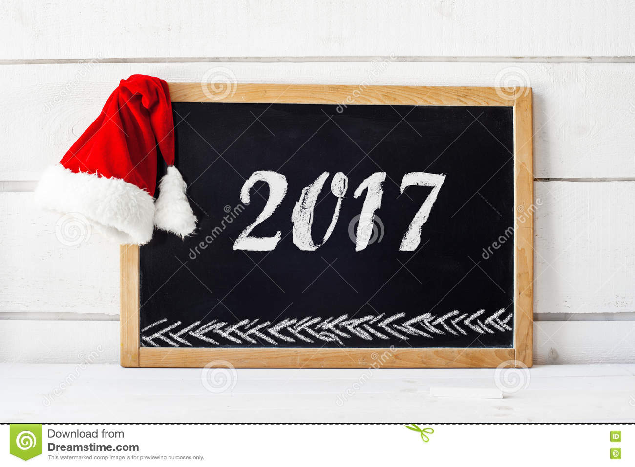 2017 new year concept empty blackboard02