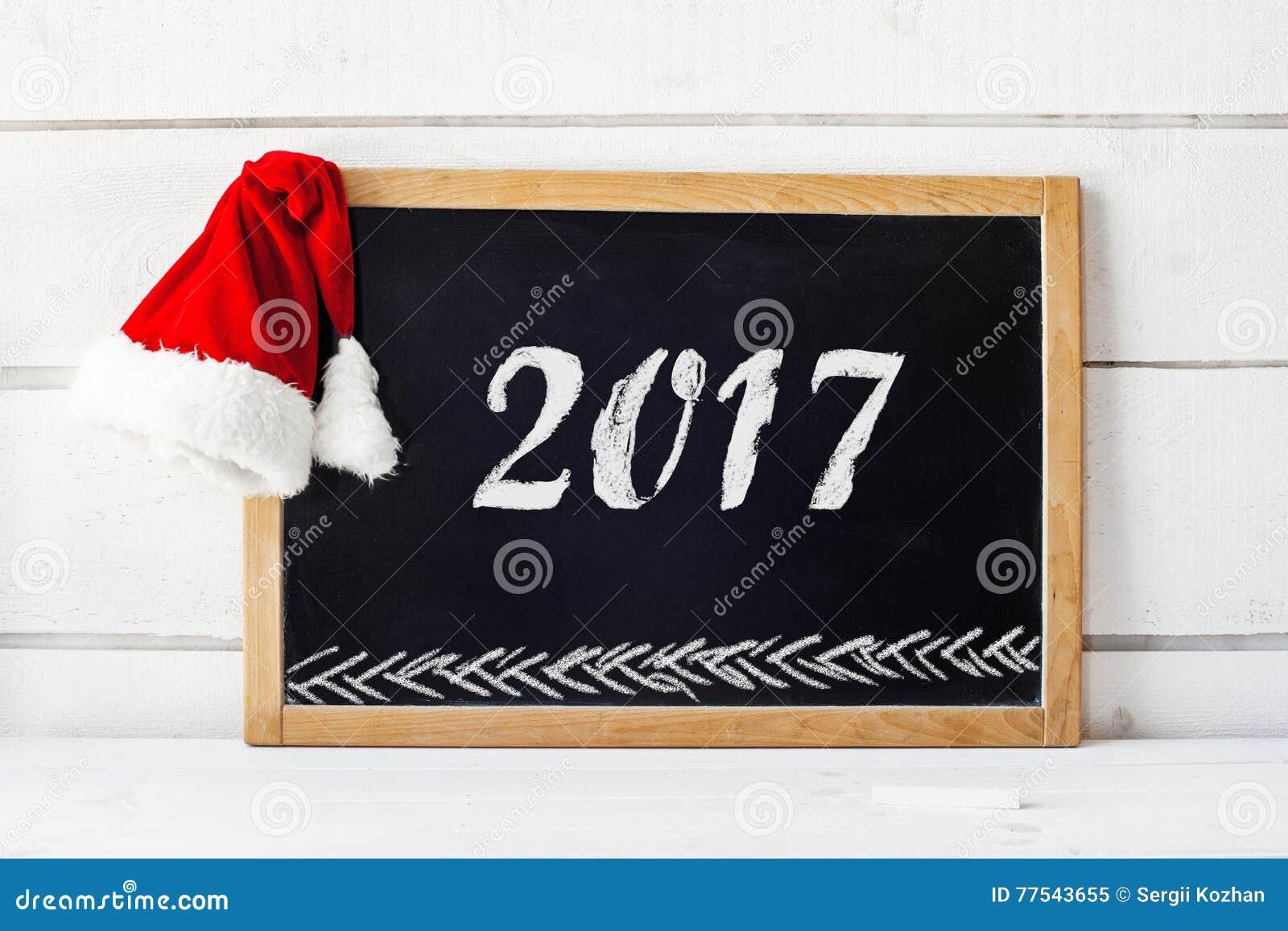 2017 new year concept empty blackboard02