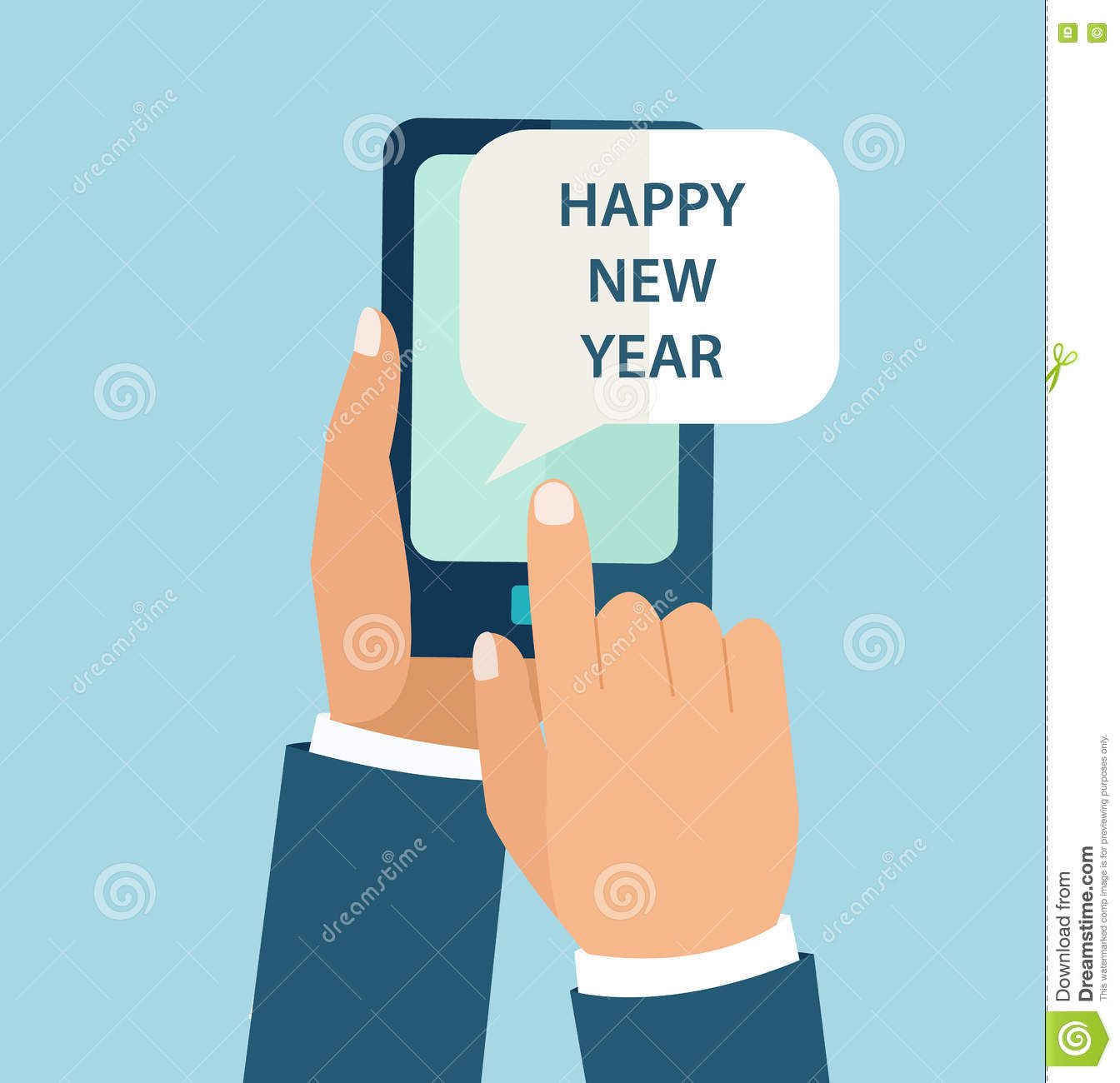 New Year Concept for mobile app.