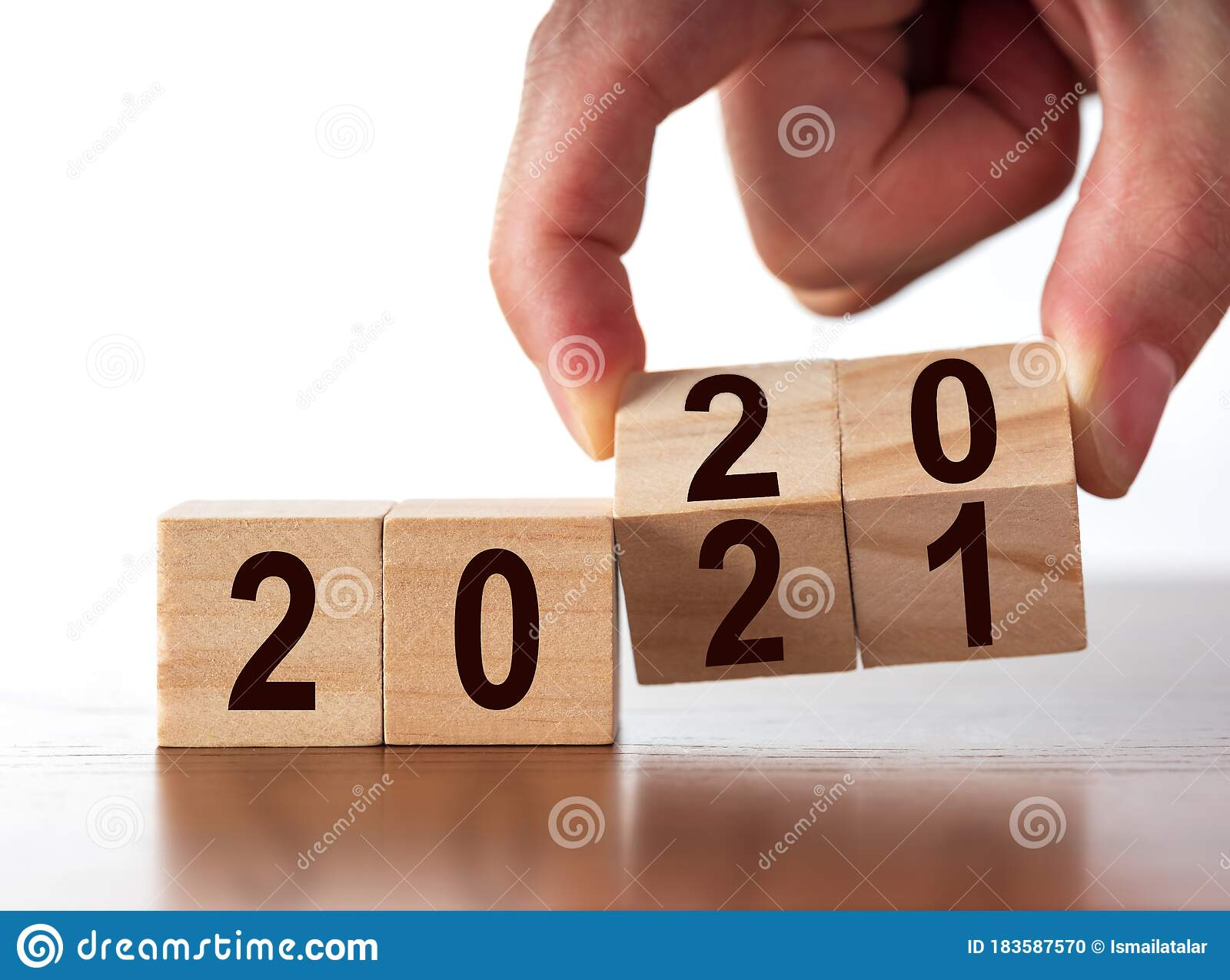New Year Concept From 2020 To 2021 Stock Photo - Image of ...